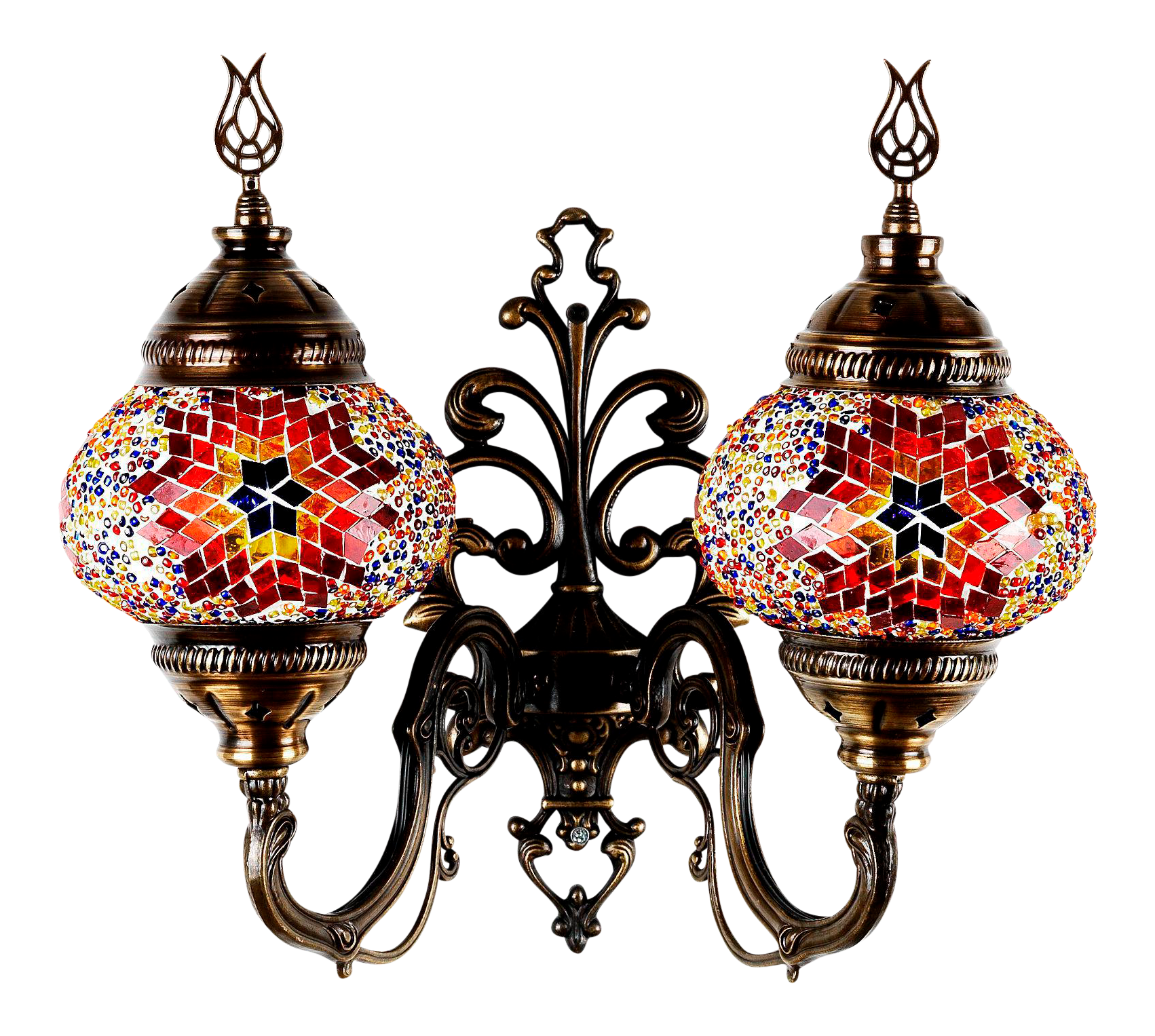 Turkish handmade mosaic double wall sconce chairish amipublicfo Images