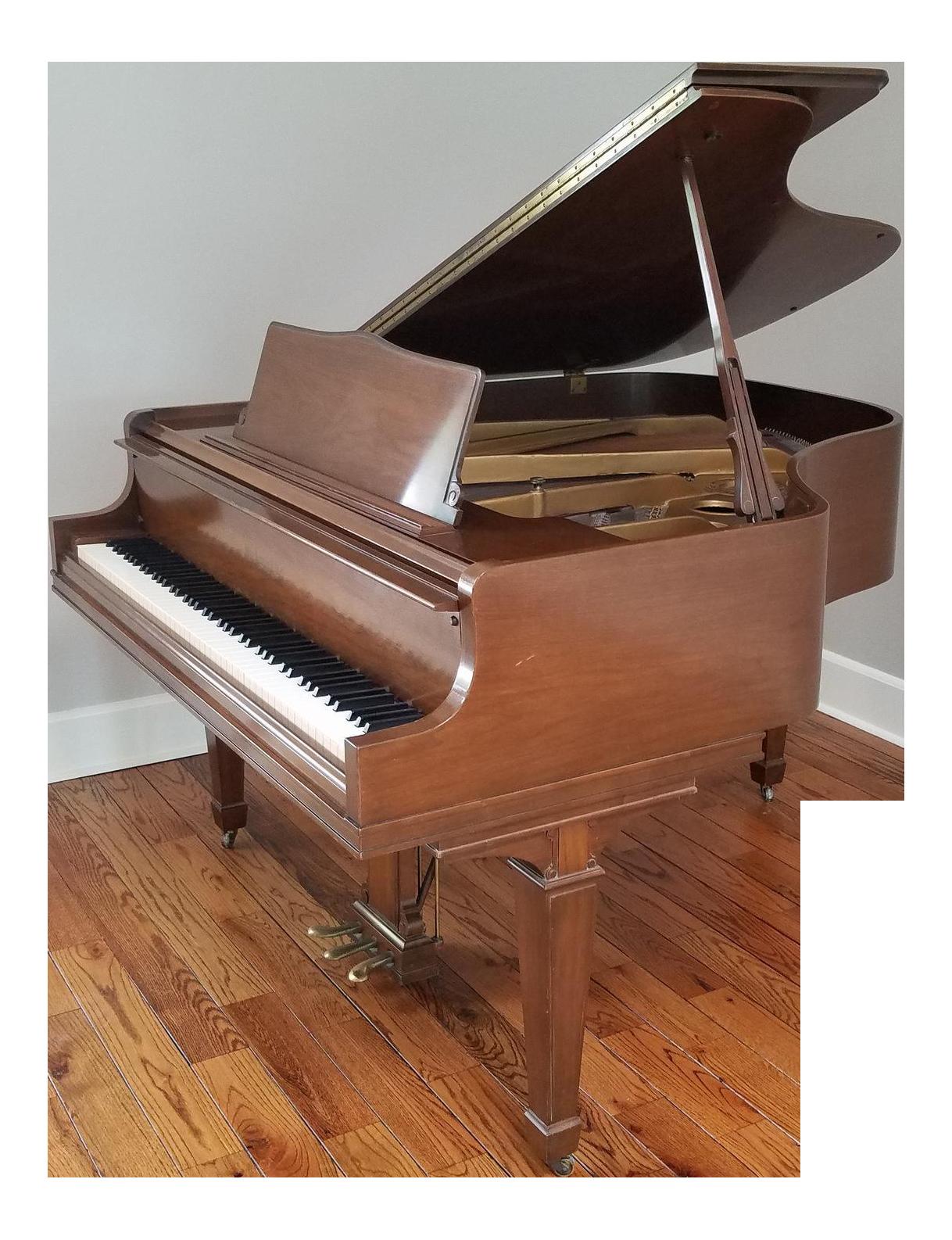 Fine 1970 Walnut Case Wm Knabe Baby Grand Piano 5