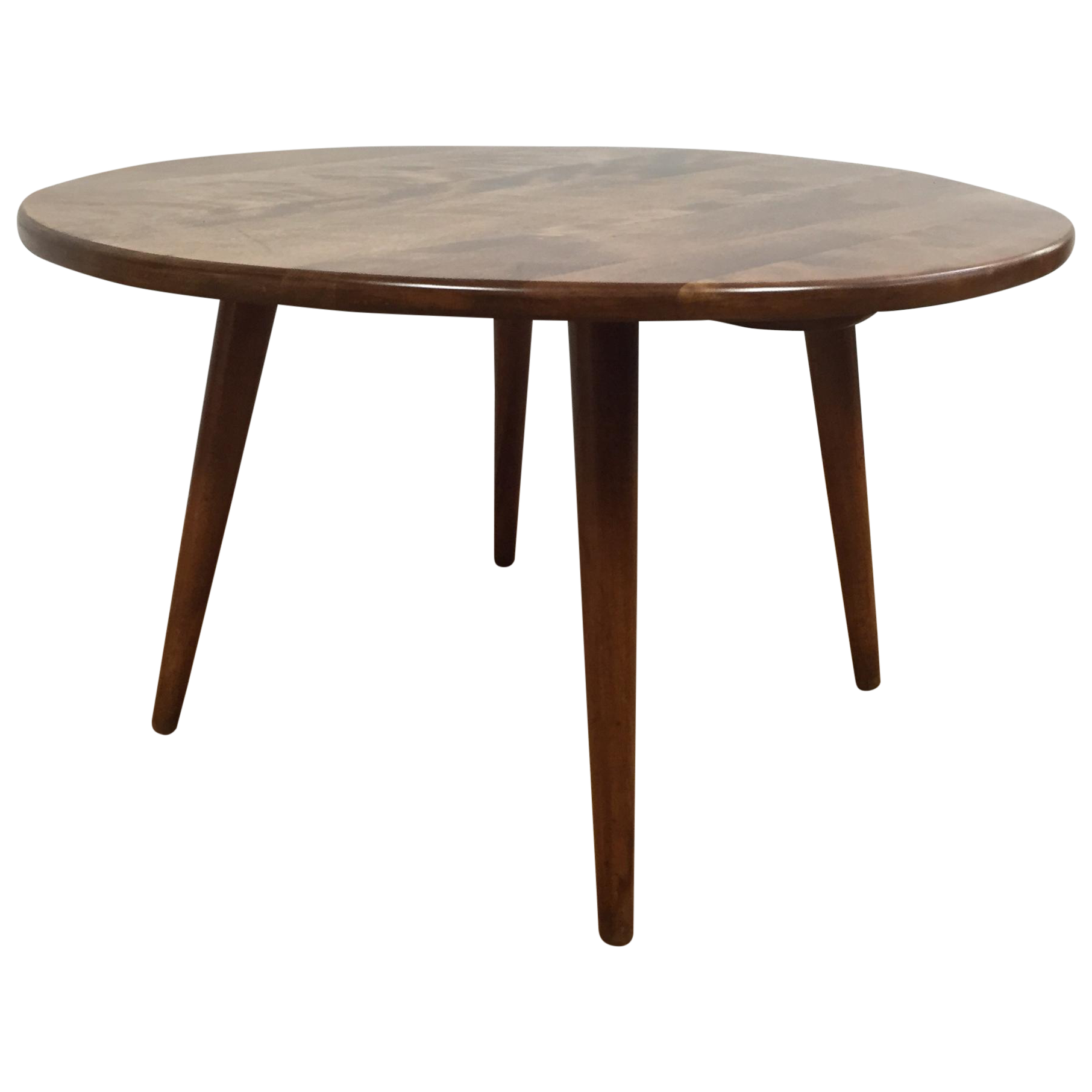 Wegner Ch008 Coffee Table: McCobb Style Round Occasional Table