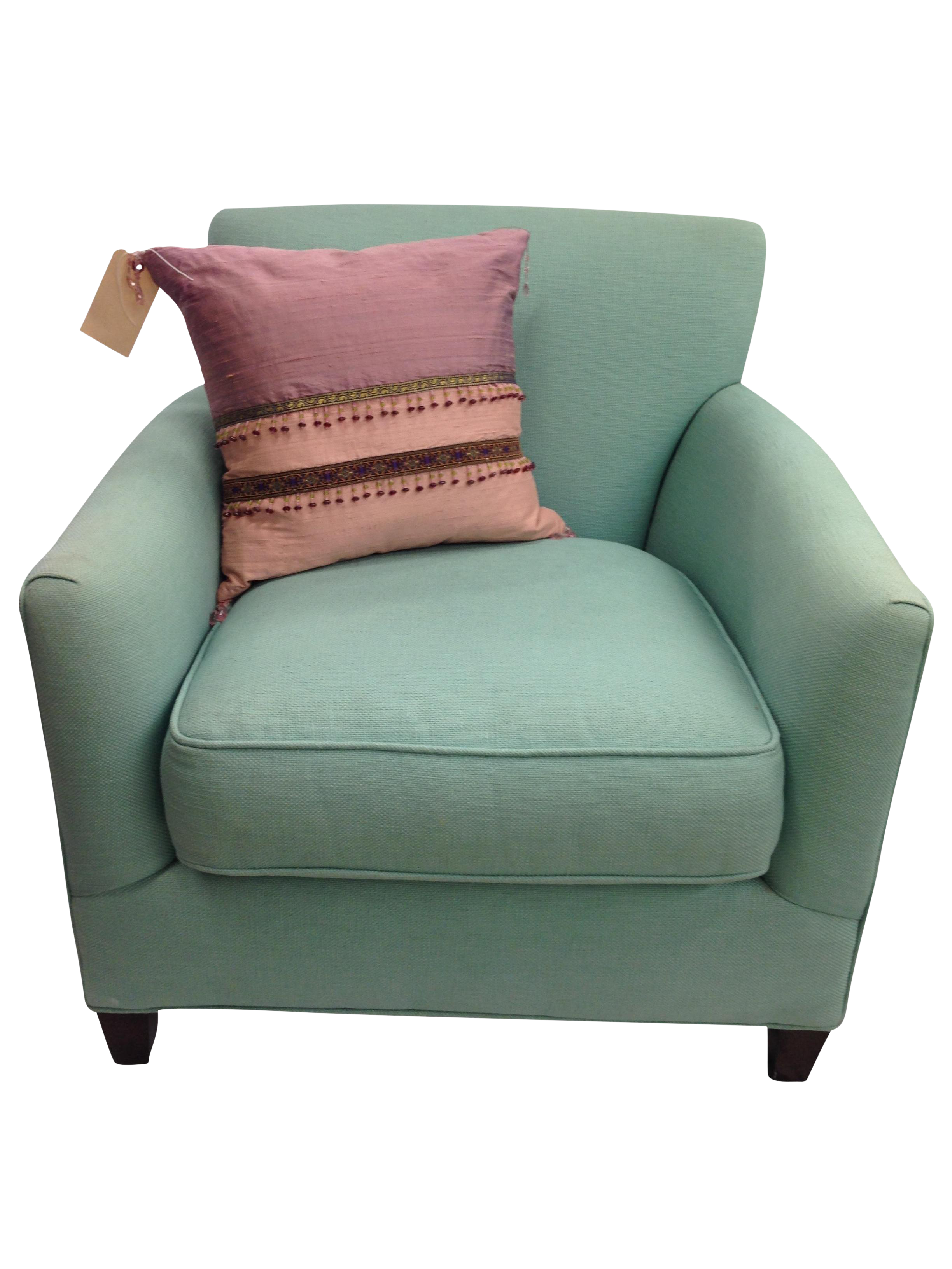 Custom Hypoallergenic Club Chair By Crate Amp Barrel Chairish