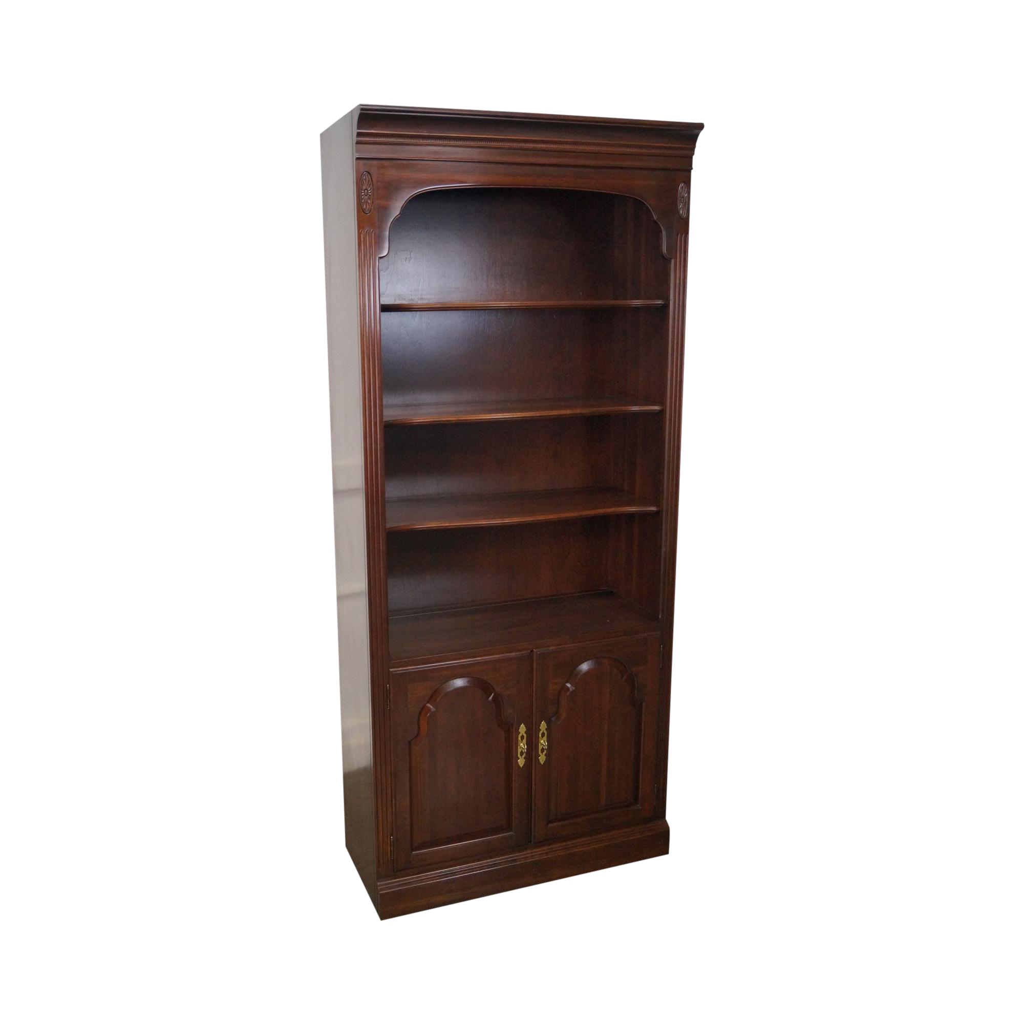 Ethan Allen Georgian Court Open Bookcase Cabinet Chairish