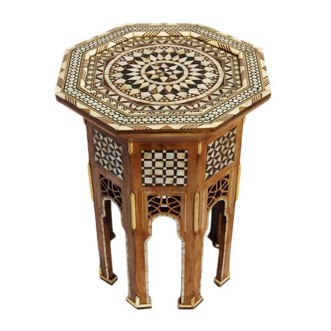 Moroccan Inlay Side Table Chairish