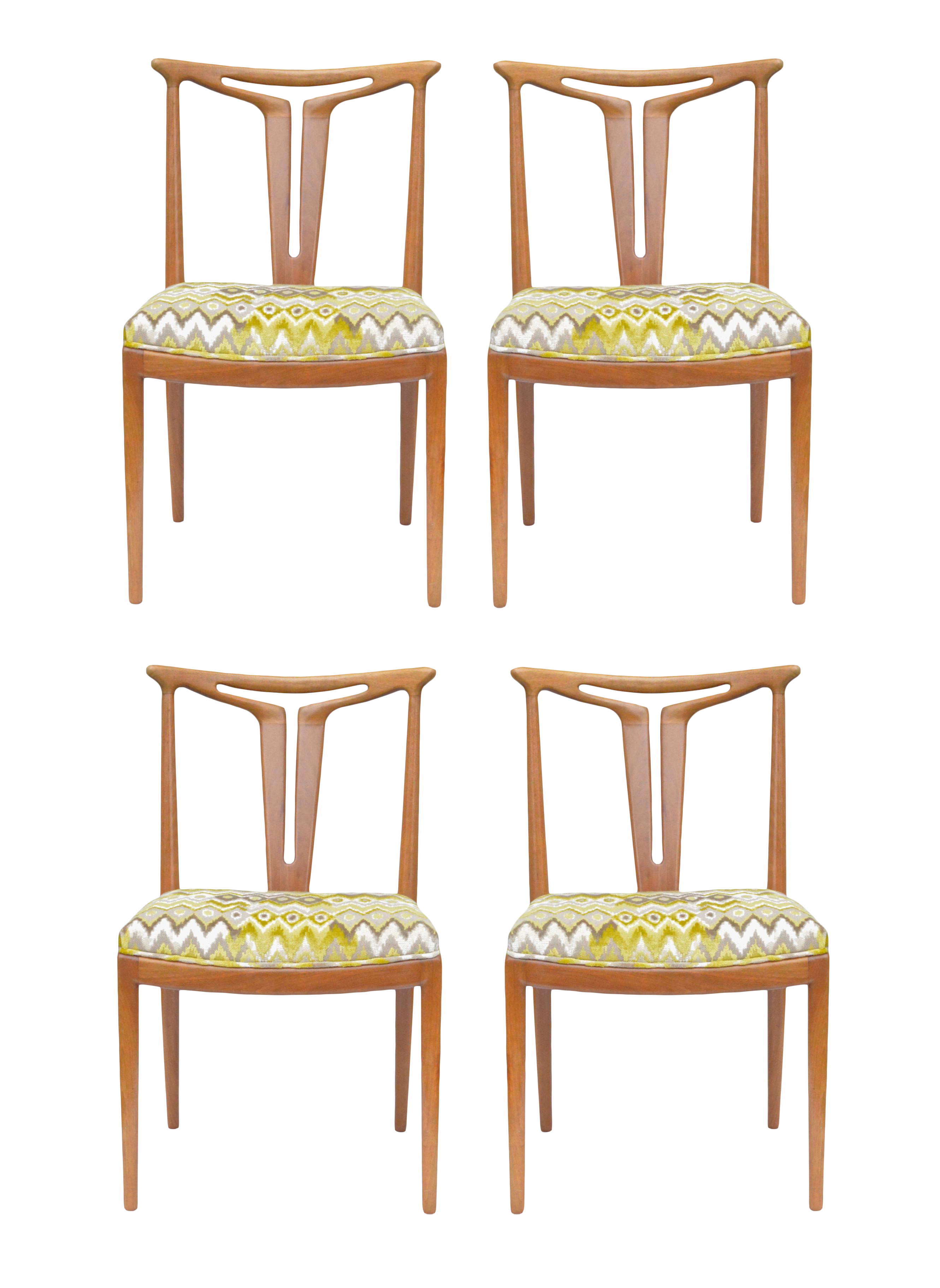 T Back Dining Chairs American Modern Quot Set Of 4 Chairish