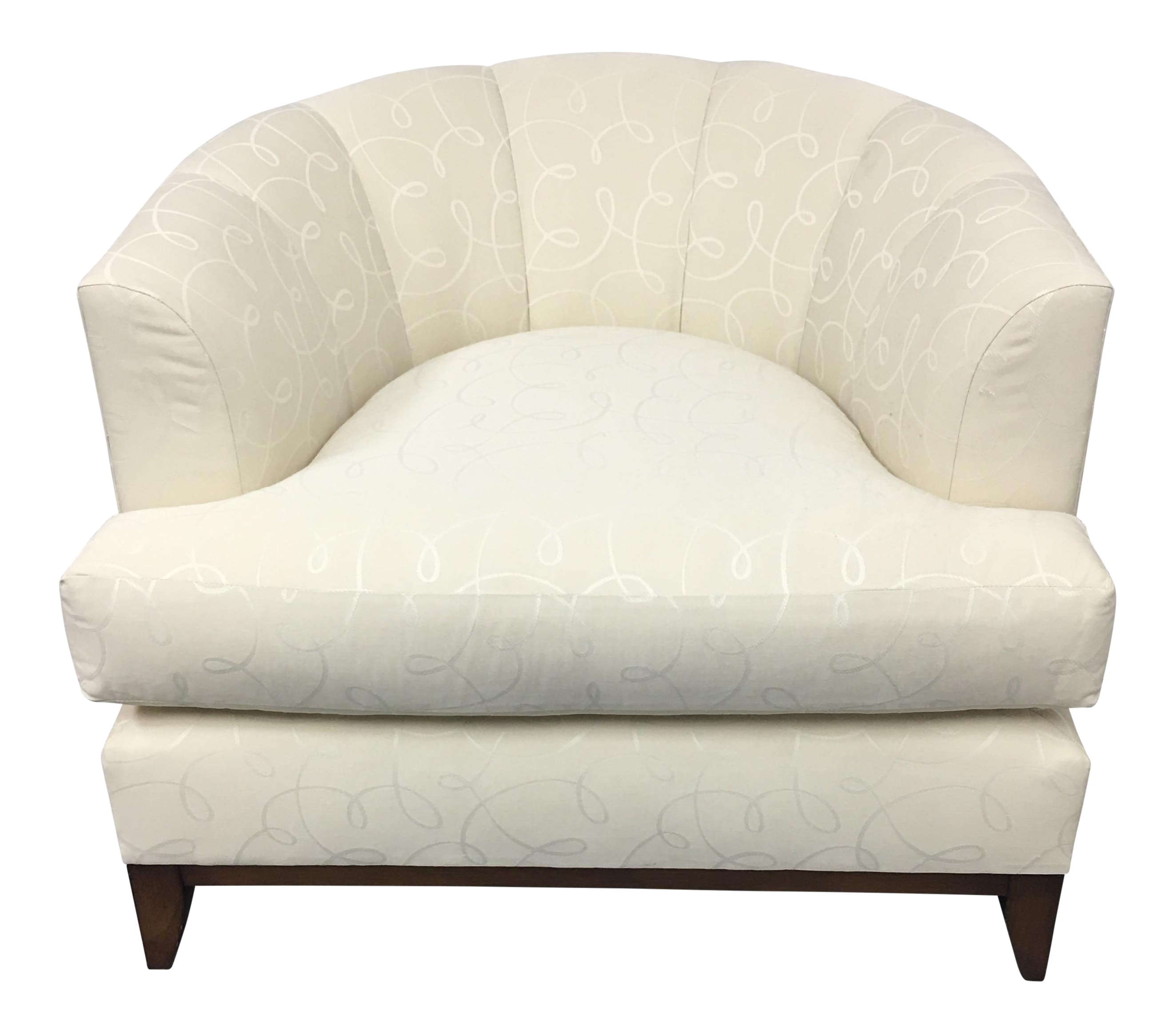 Barbara Barry Cabinet Barbara Barry Channel Back Tub Chair Chairish
