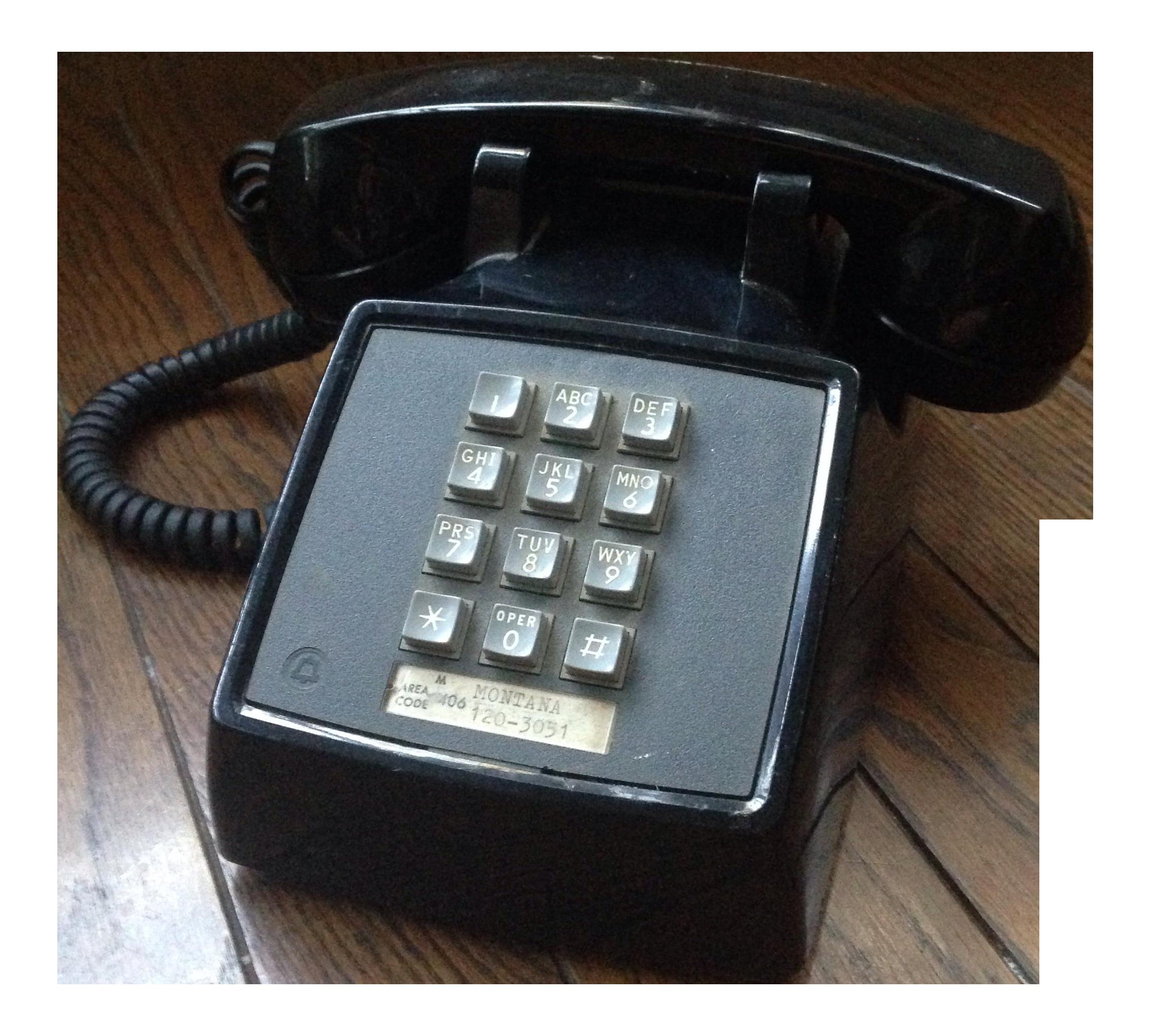 Vintage Black Push Button Telephone Chairish