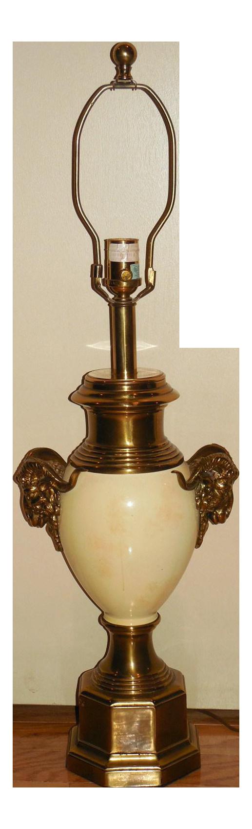 Ethan Allen Regency Style Ramu0026#39;s Head Lamp : Chairish