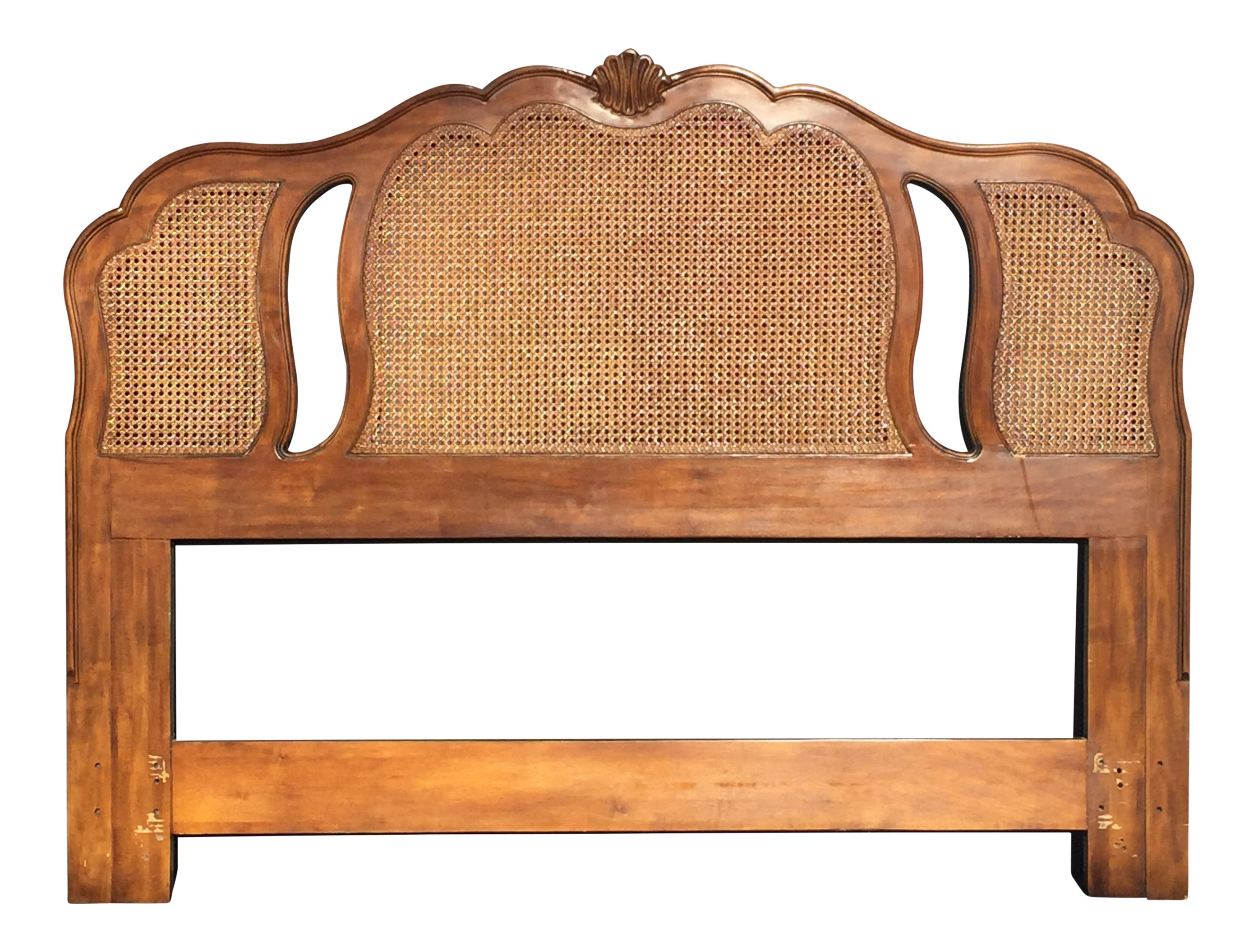 Vintage Drexel Heritage Caned French Country Cane Headboard