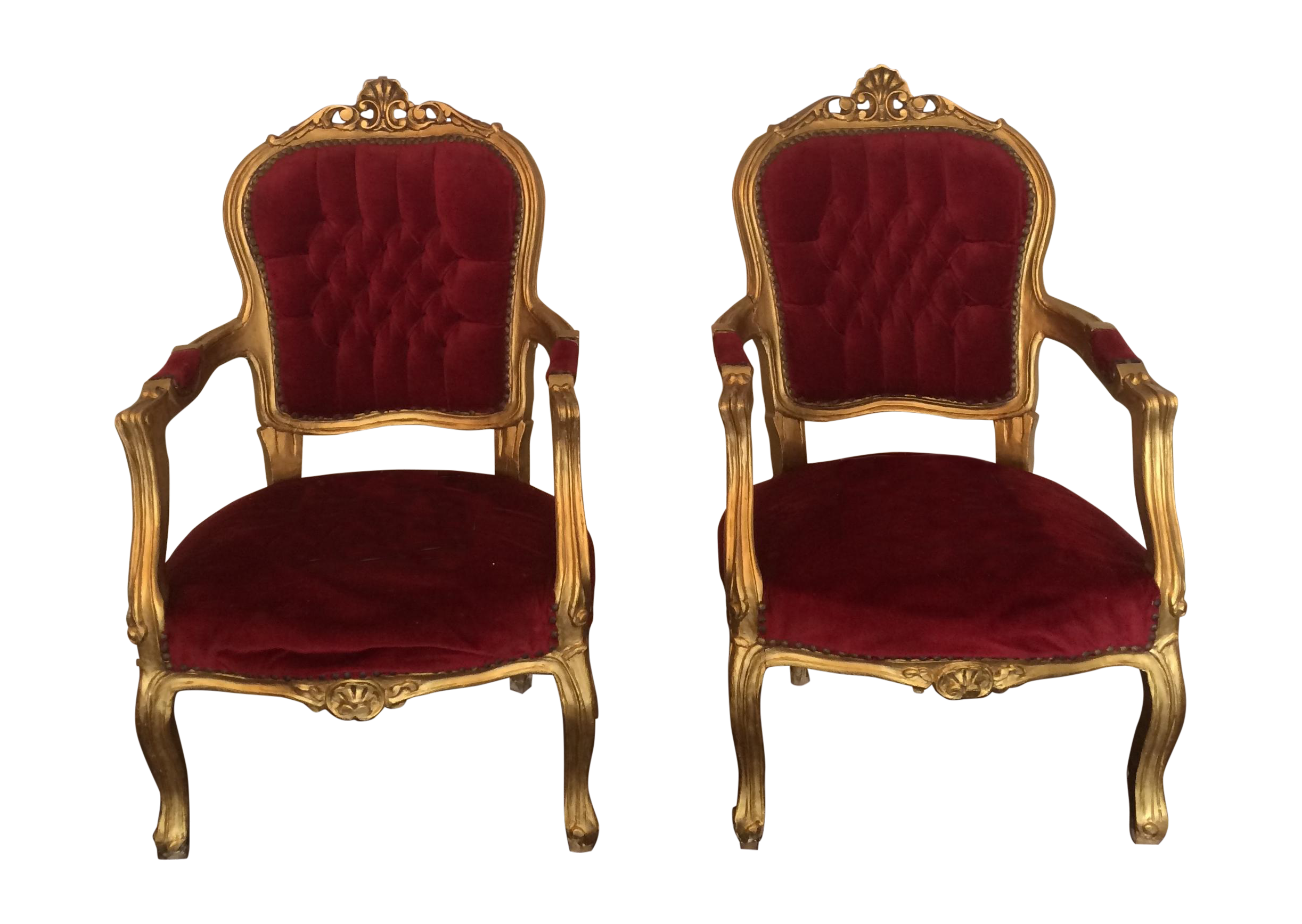 Red velvet chair - Red Velvet Chair 7