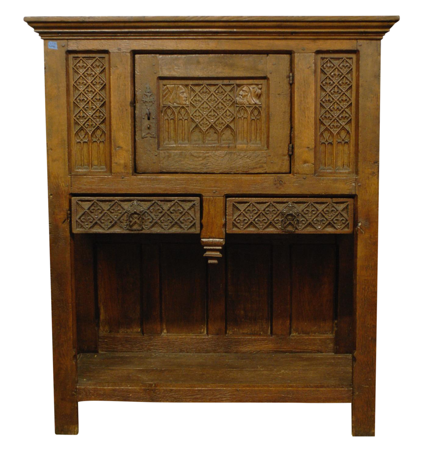 antique 1800s french gothic vestry cabinet | chairish