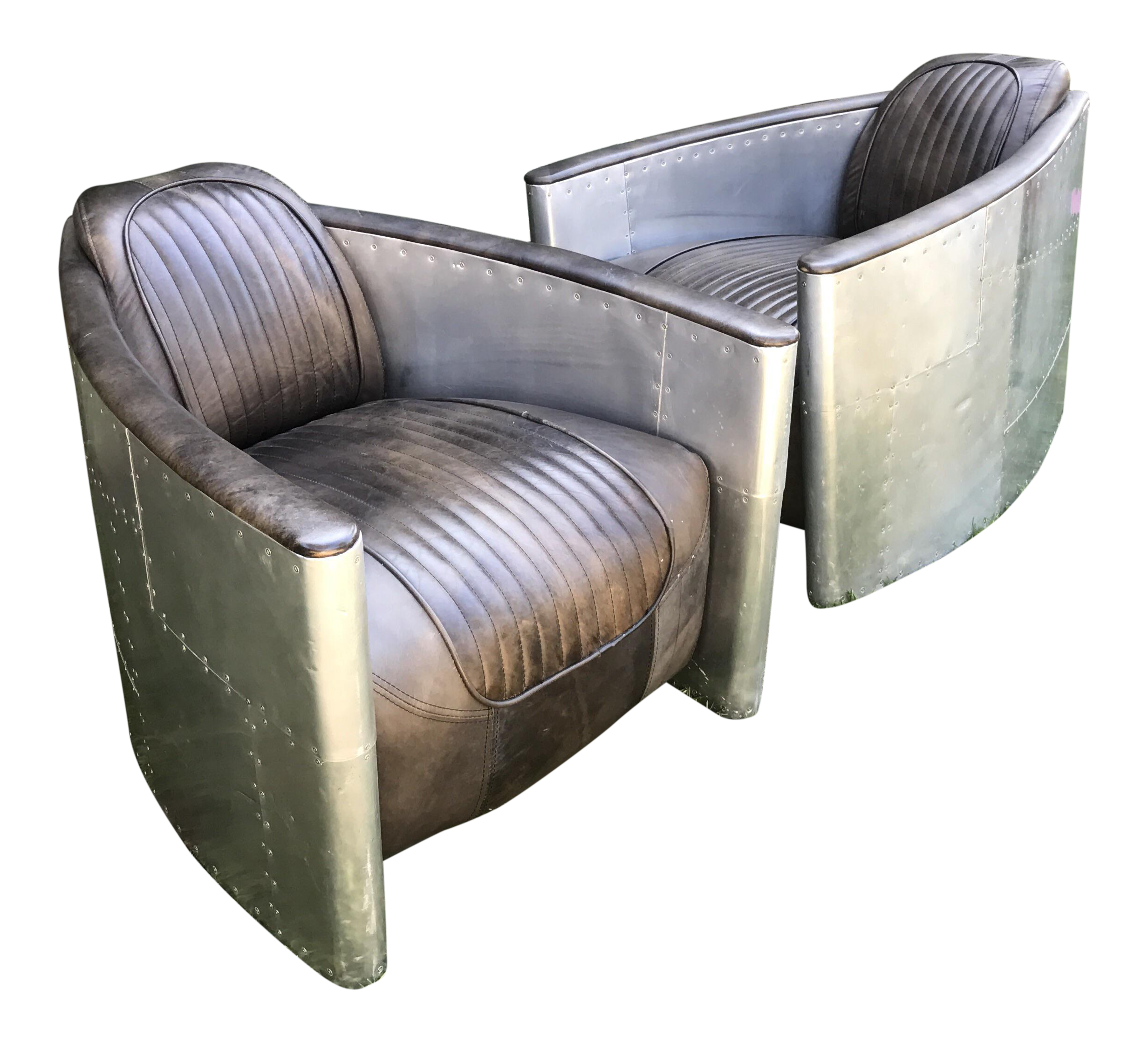 Aviator Chairs by Restoration Hardware A Pair