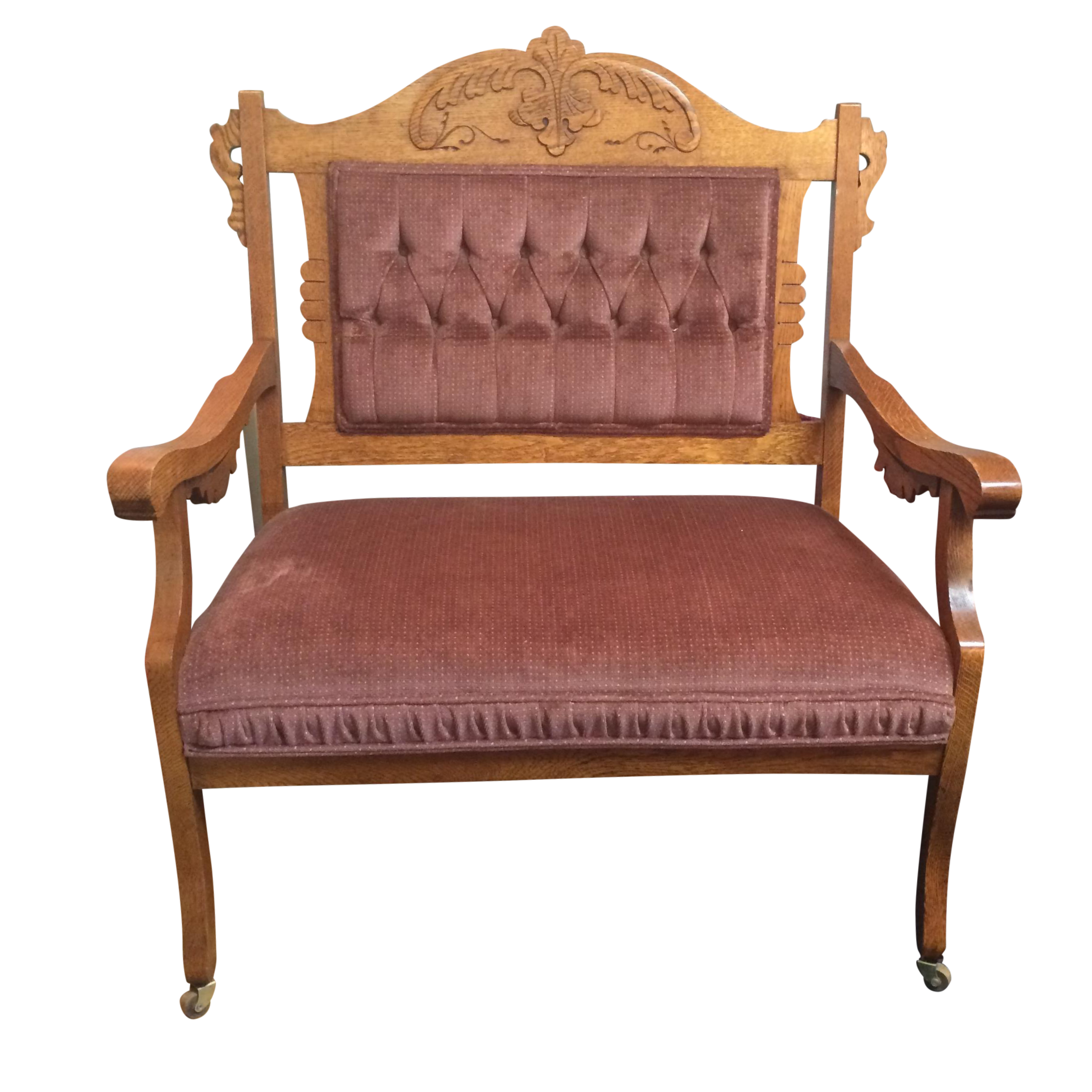 1880 39 S Victorian Eastlake Settee Chairish