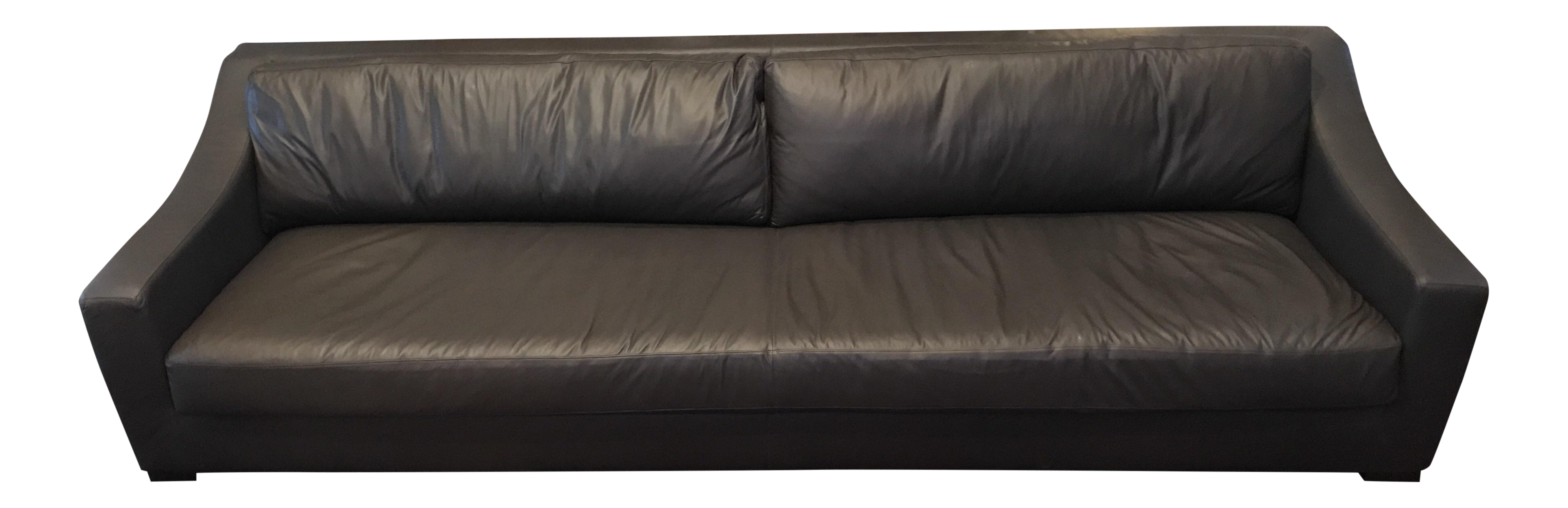 Restoration Hardware Leather Sofa Chairish