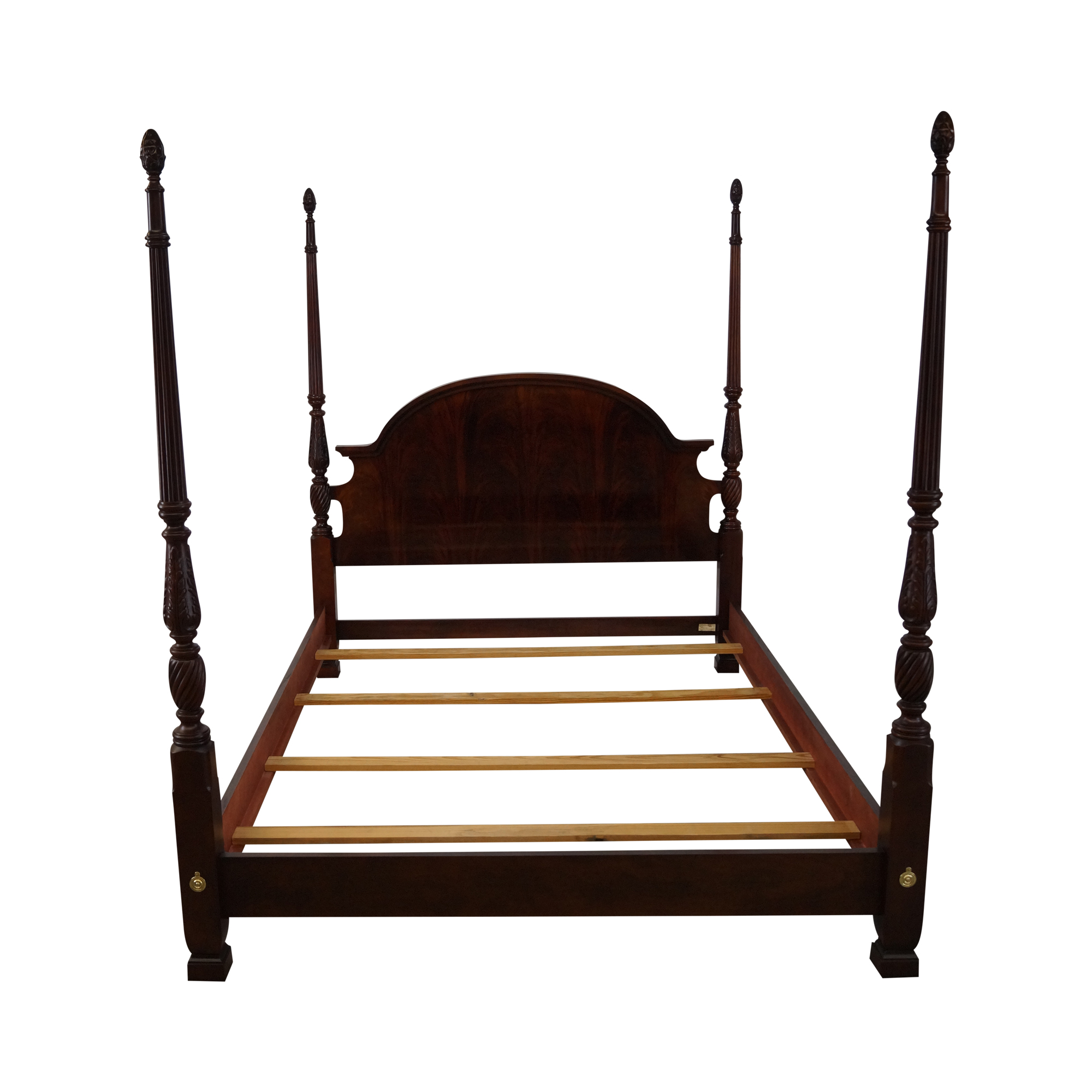 Flame Mahogany Queen Size Poster Bed Thomasville Chairish