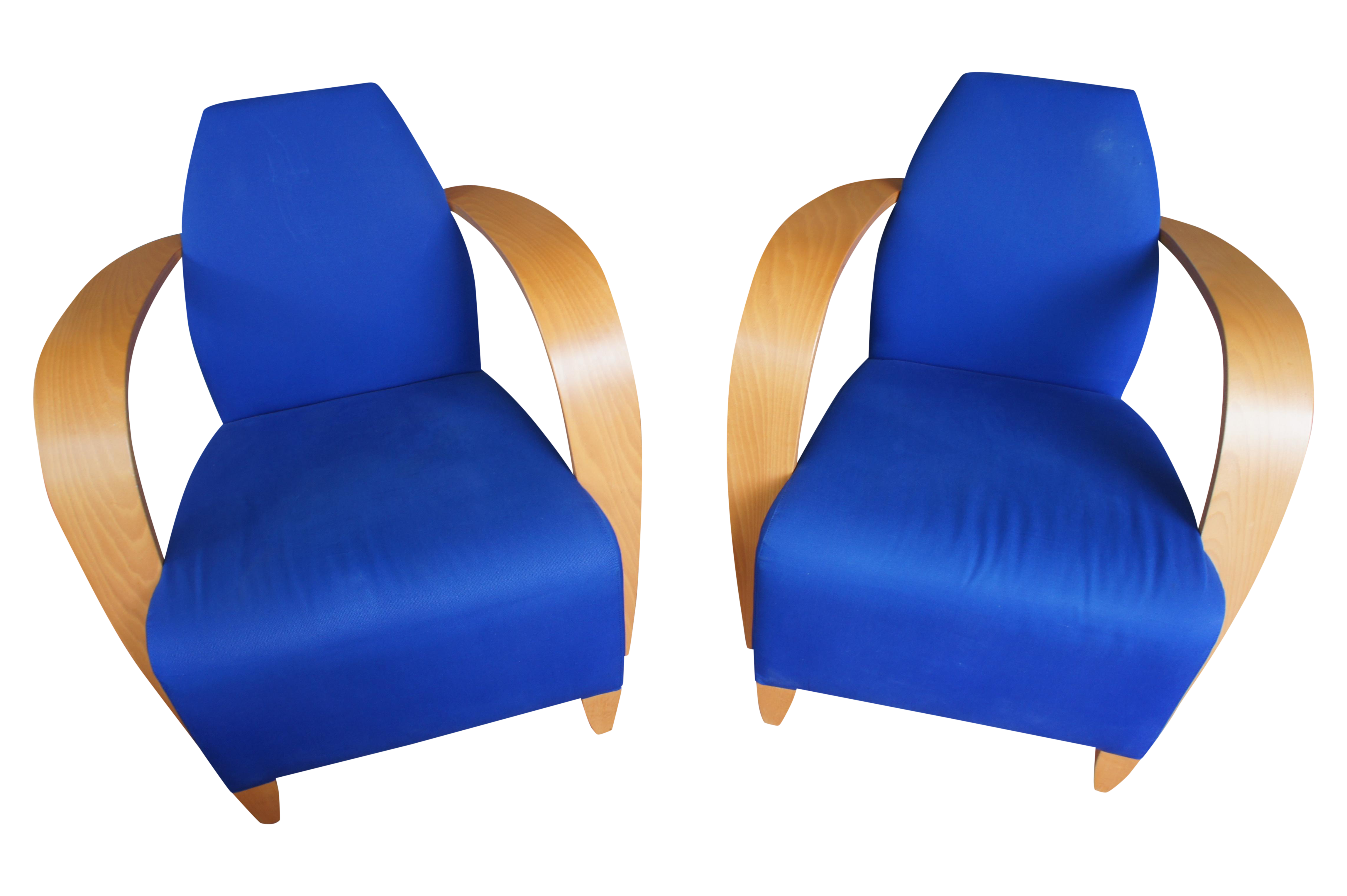 Art deco style chairs - Image Of Andreu World Art Deco Style Club Chairs A Pair