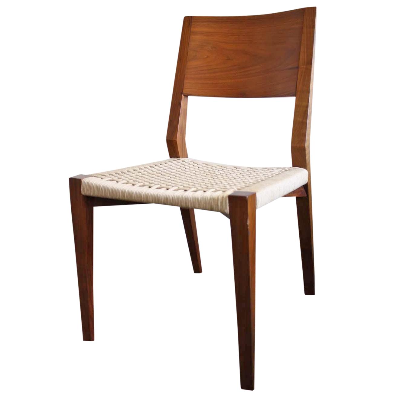 Mcguire Seido Walnut Side Chair Chairish