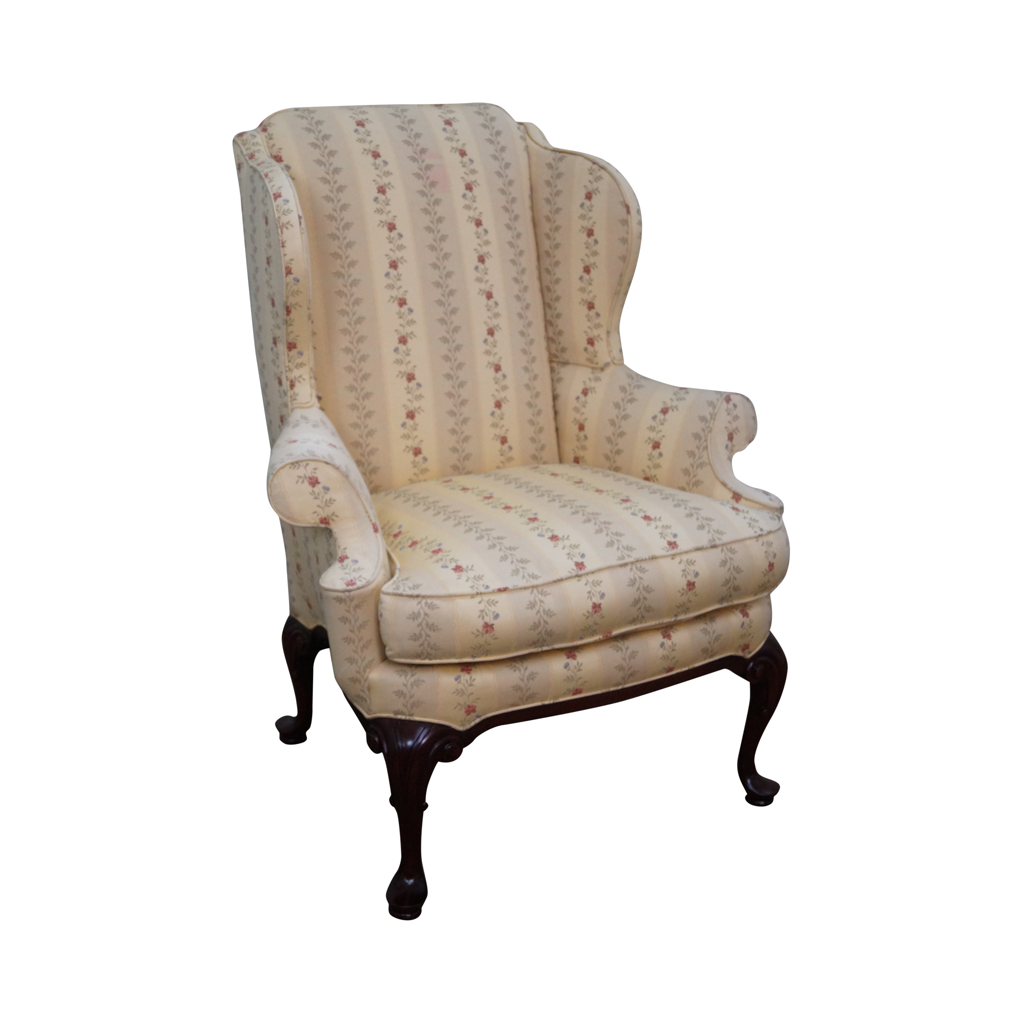 Queen Anne Style 18th Century Wing Chair