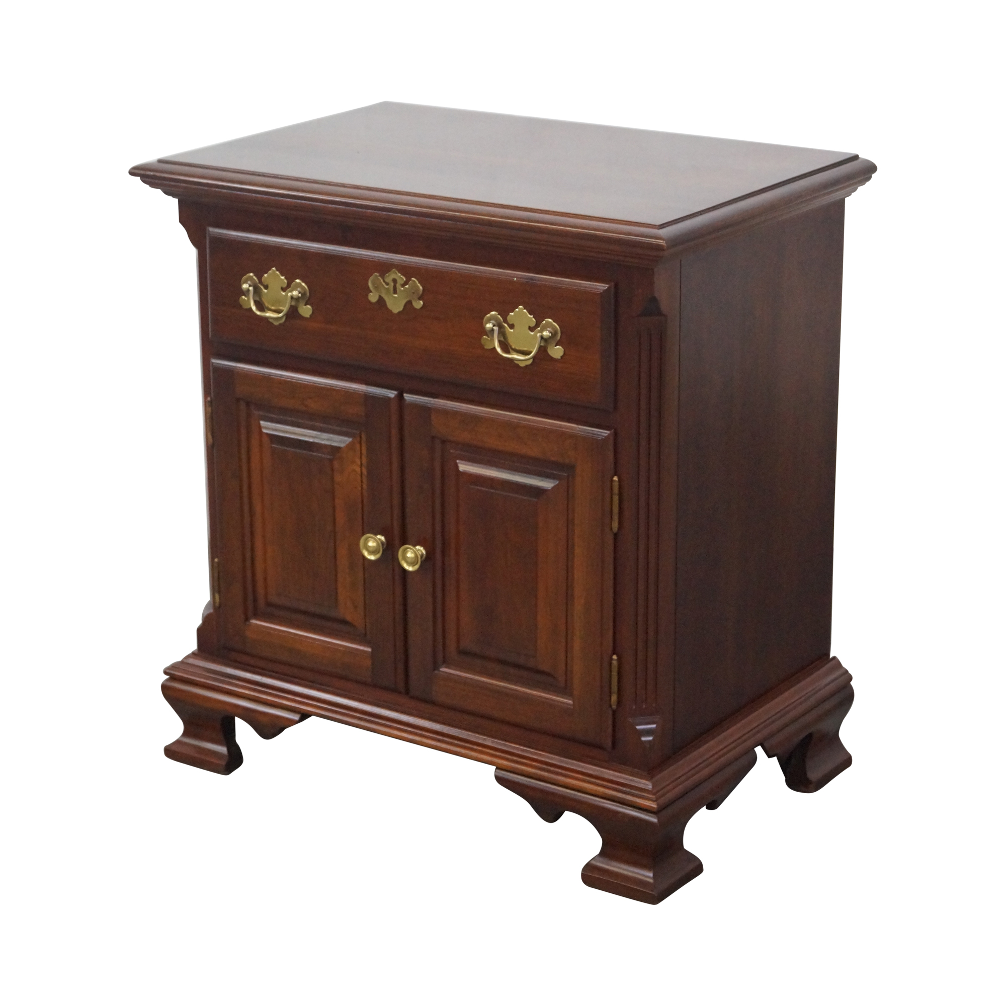Colonial Cherry Chippendale Style Nightstand Chairish