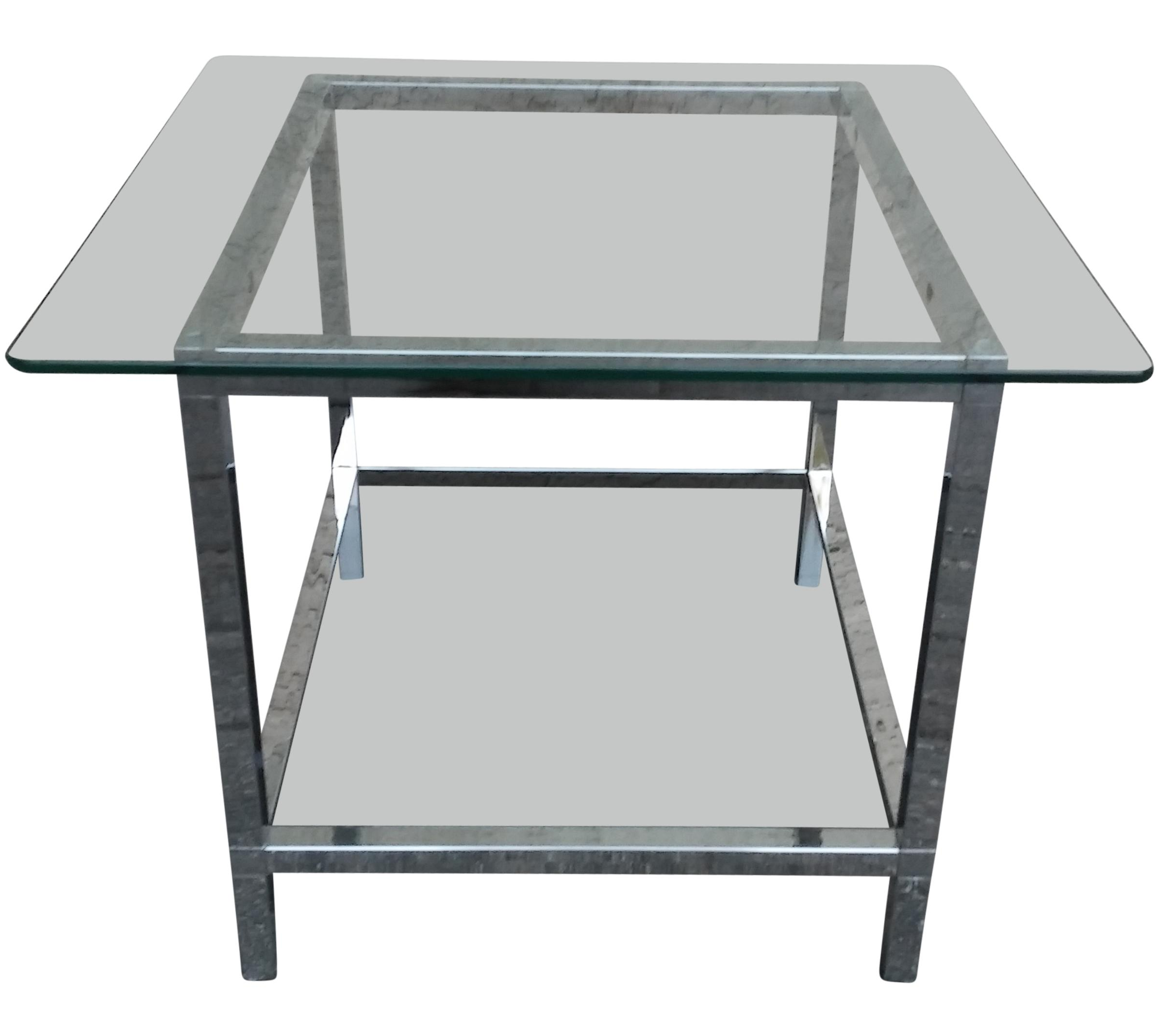Mies van der rohe style side table chairish for 0co om cca 9 source table