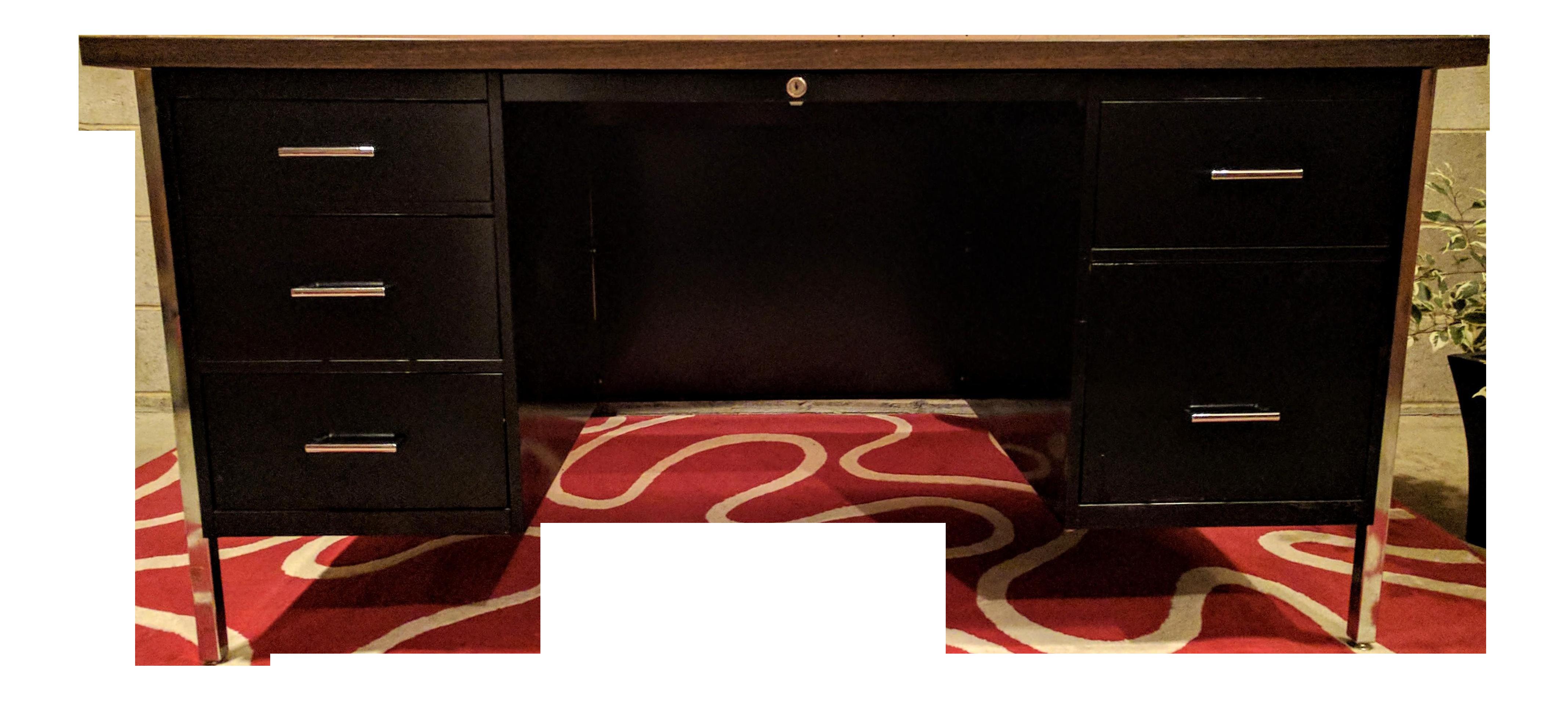 Vintage Tanker Double Pedestal Metal Desk Chairish