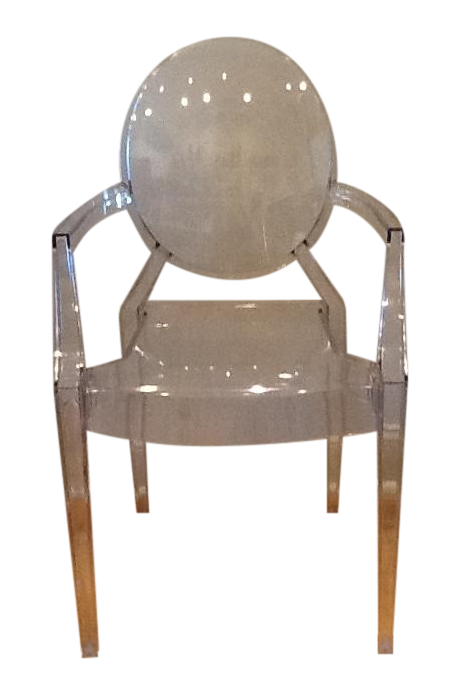 Philippe starck louis style ghost chair chairish for Chaise ghost philippe starck