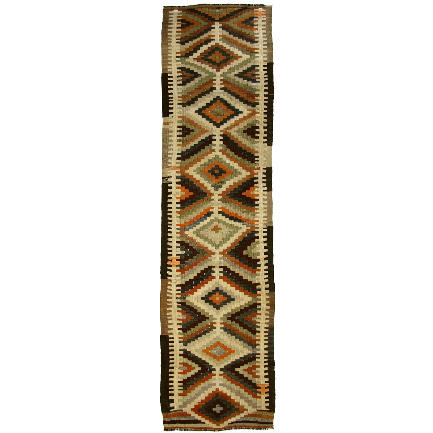Striking earth tone vintage kilim 2 39 11 x 12 39 1 chairish for Sofa global 6450
