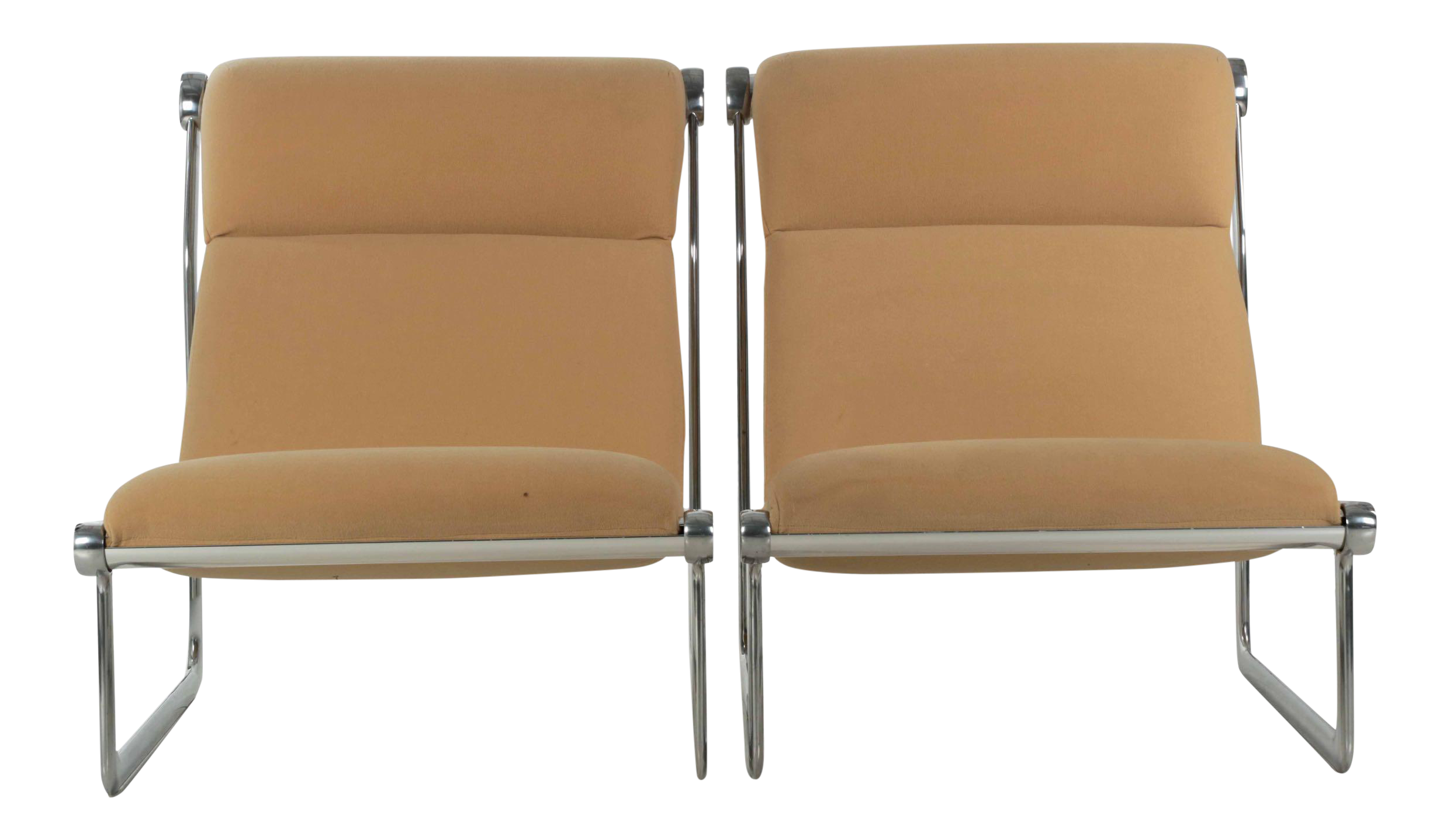 Aluminum sling chairs - Image Of 1970s Vintage Hannah Morrison For Knoll Aluminum Sling Lounge Chairs A Pair