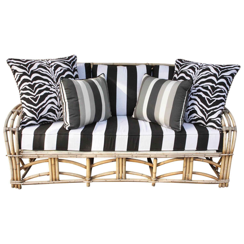 Vintage 1960s bent bamboo high life outdoor sofa chairish for Bent bamboo furniture