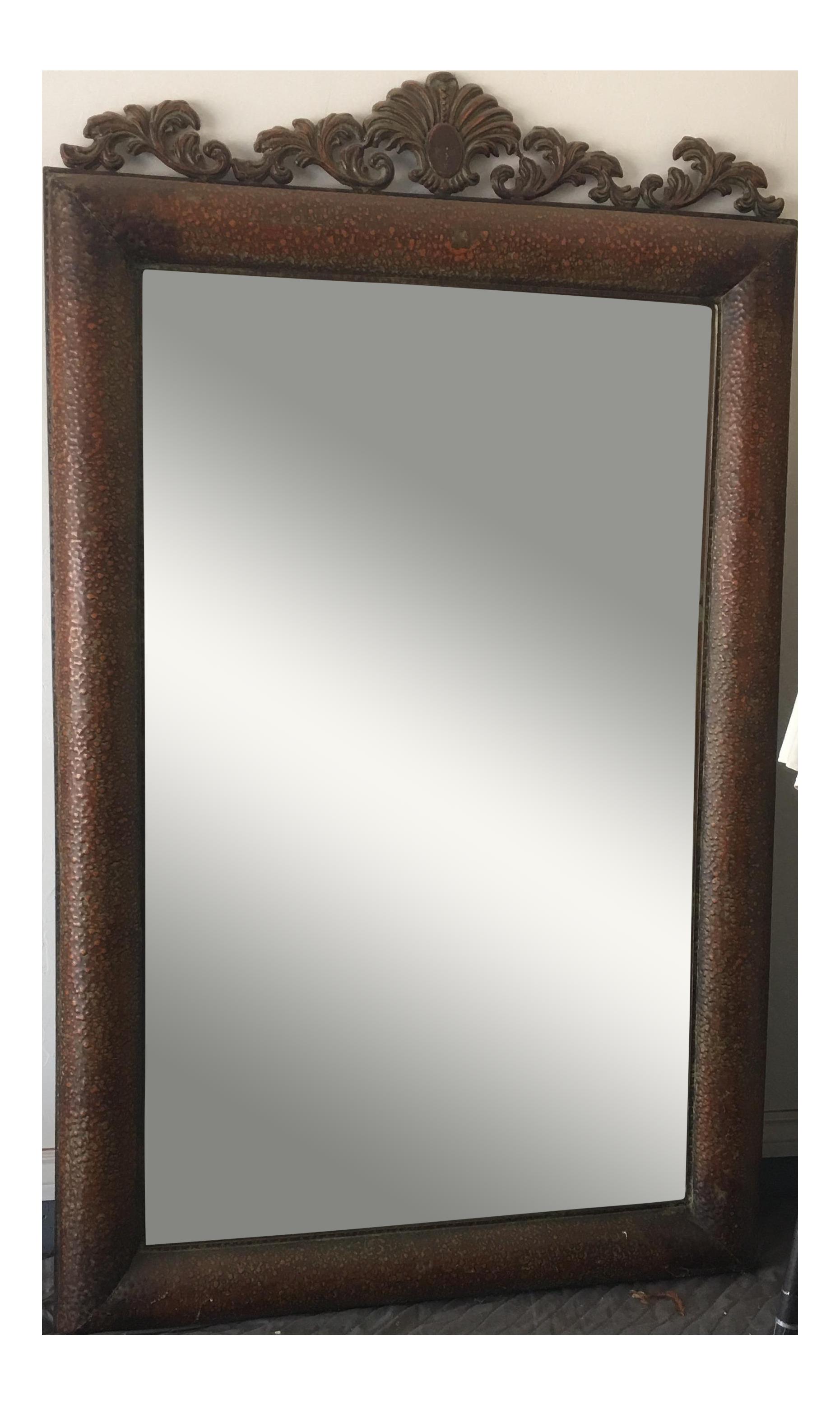 Copper Metal Wall Mirror Chairish