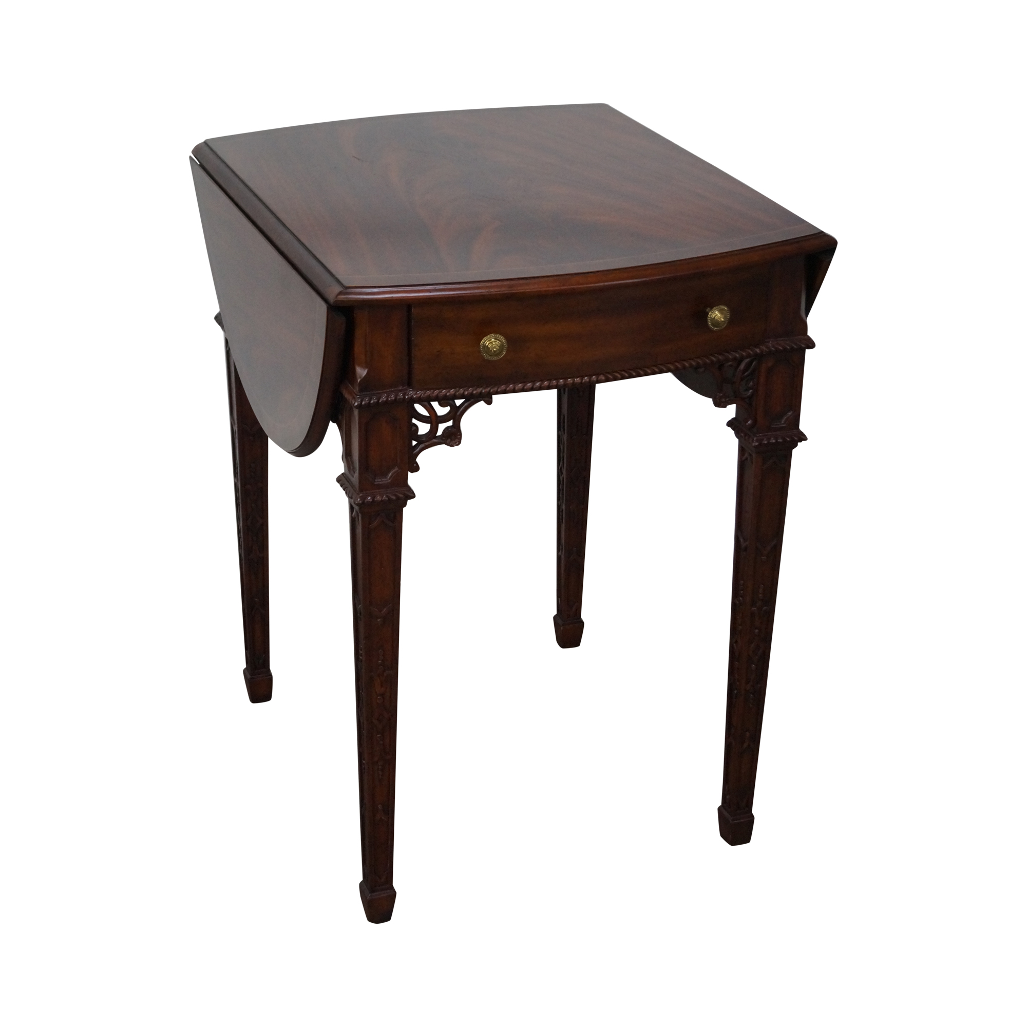 Maitland Smith Flame Mahogany Chippendale Table Chairish