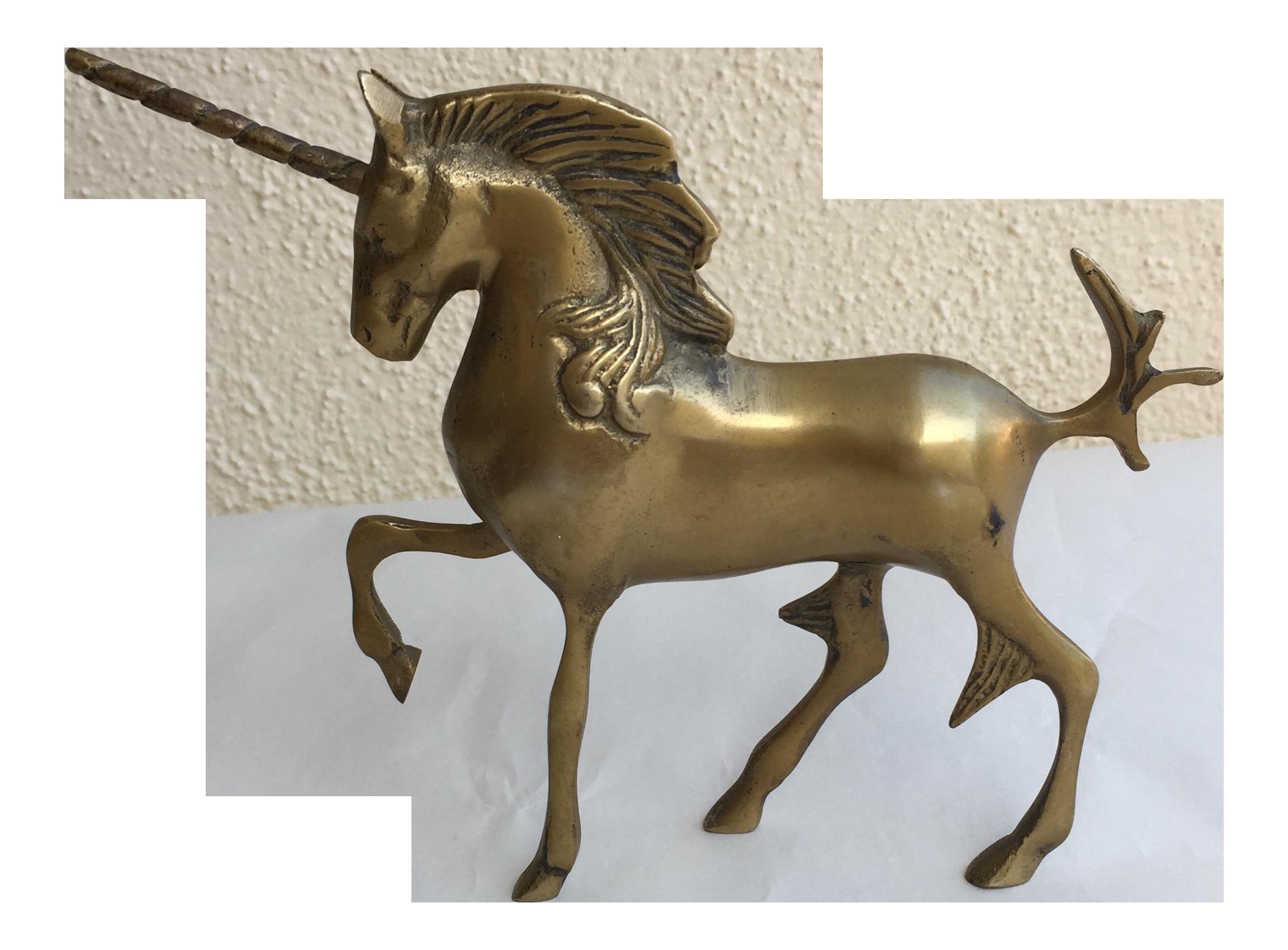 Mid Century Brass Unicorn Chairish