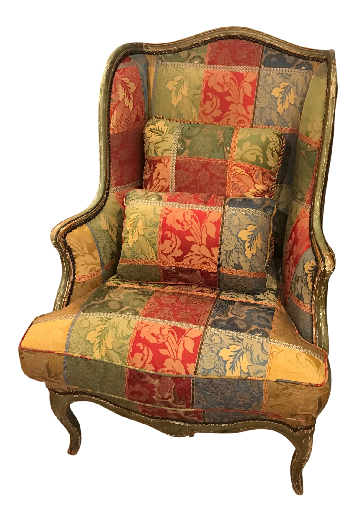 Antique wing chair - Image Of Wonderful Large Antique Wing Chair