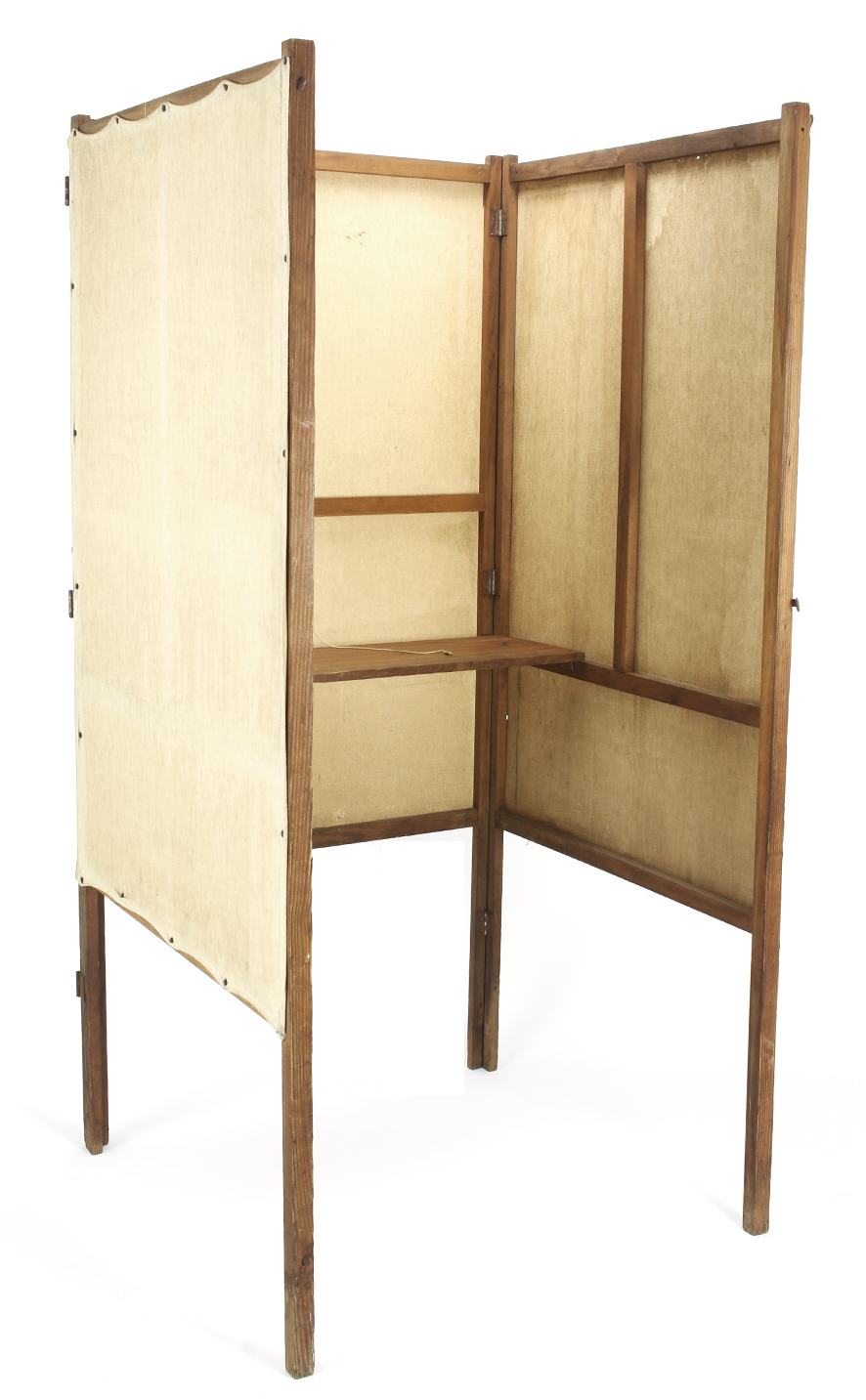 1920s Wood And Canvas Voting Booth Chairish