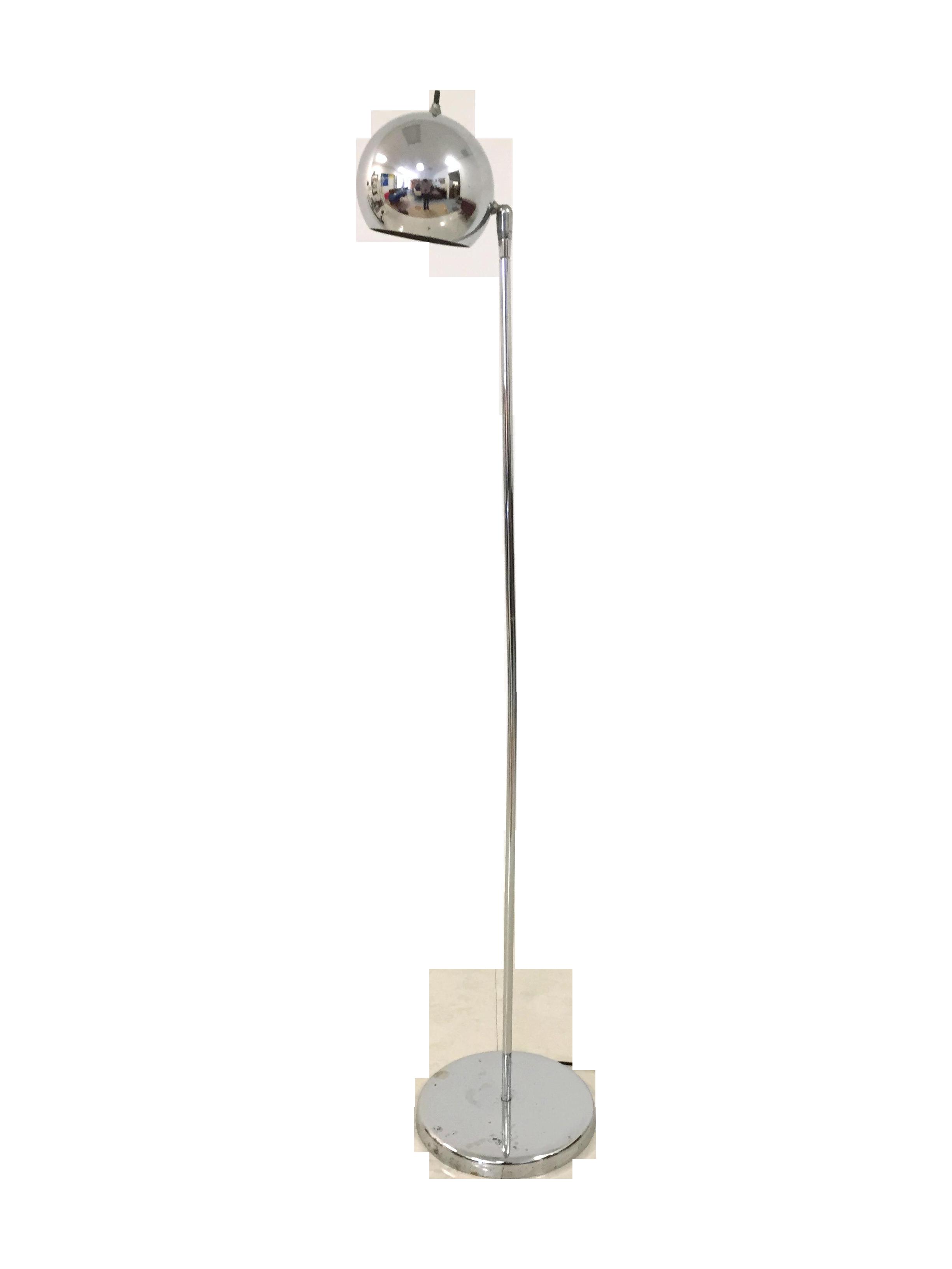 Vintage sonneman kovacs style chrome floor lamp chairish for Darlington floor lamp chrome