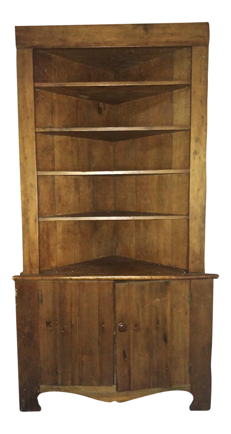 Rustic country corner cabinet chairish for Meuble country corner