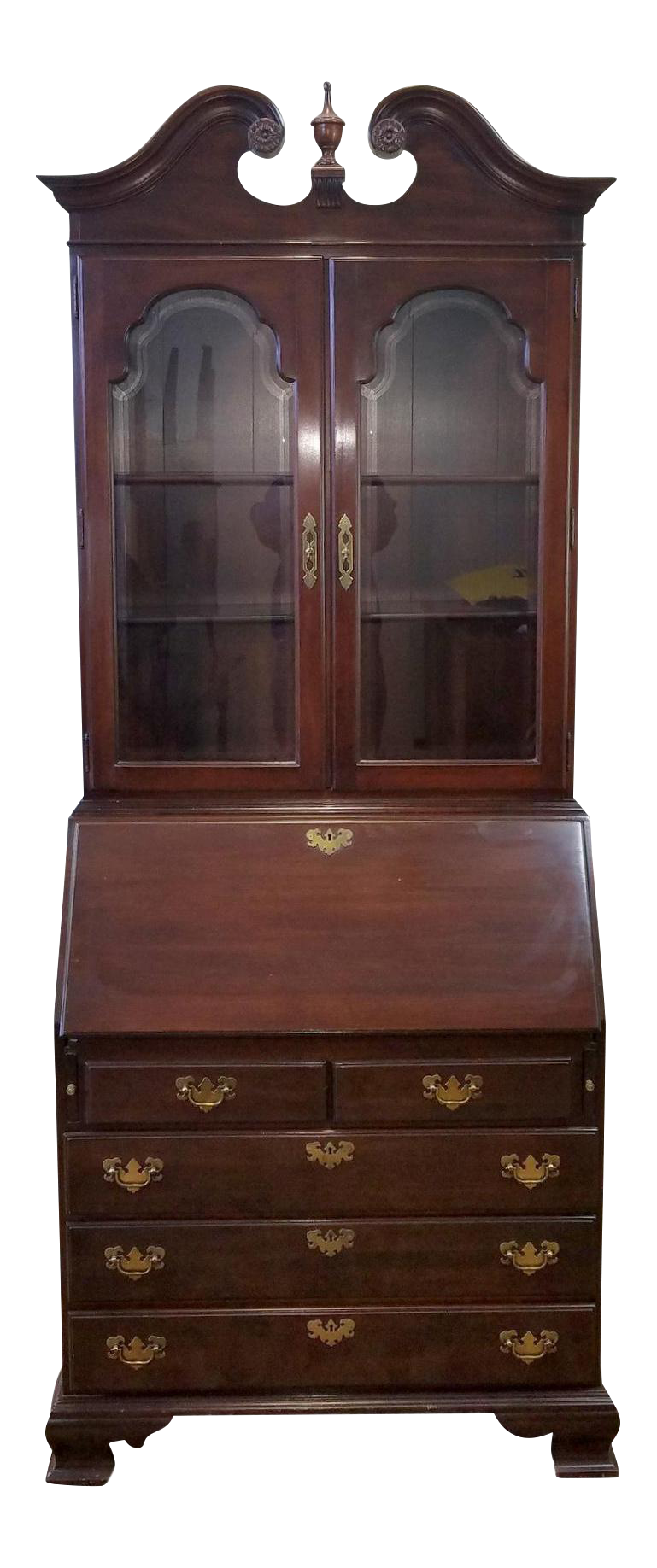 Ethan Allen Cherry Georgian Court Secretary Desk Chairish
