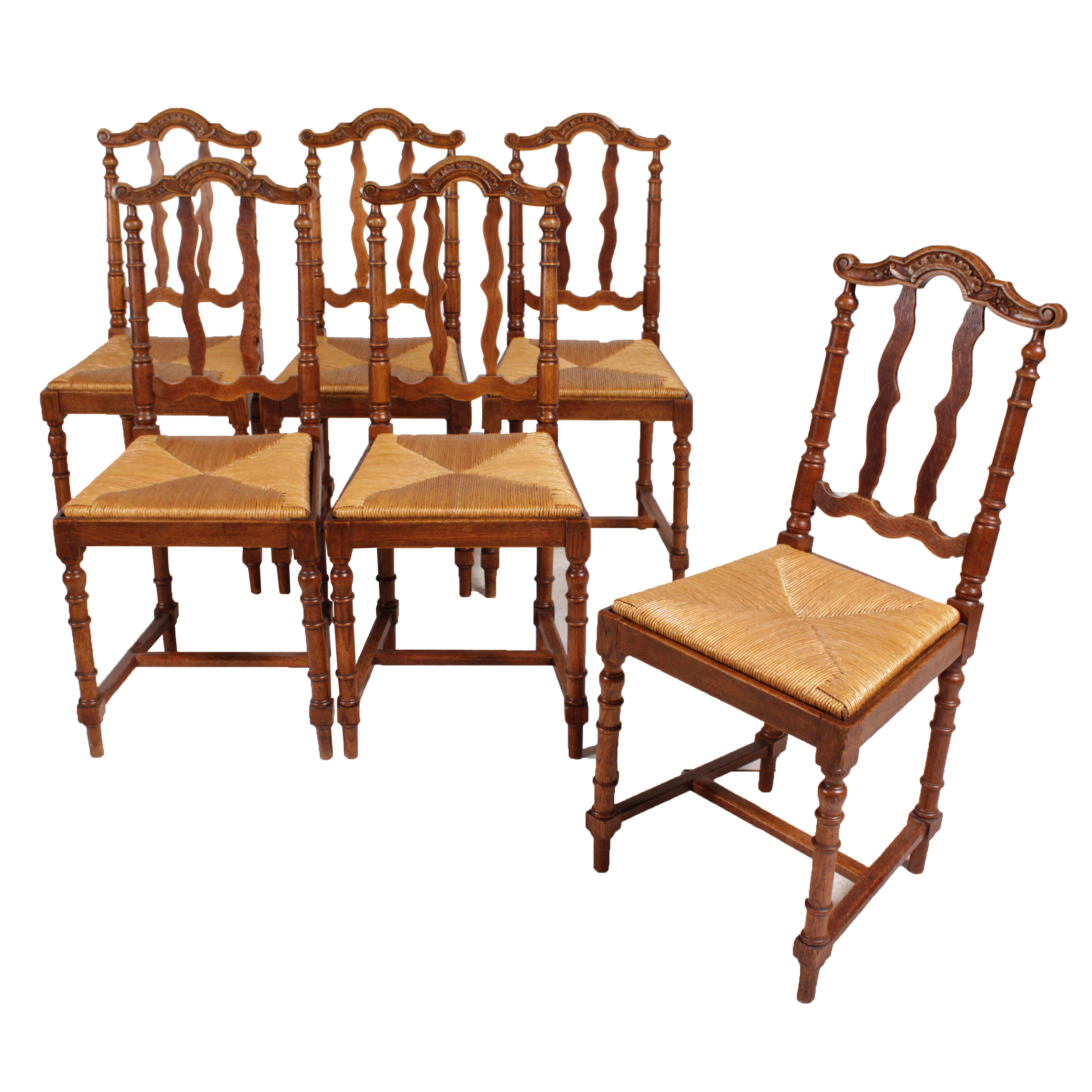 Flemish baroque style dining chairs set of 6 chairish for Baroque style dining chairs