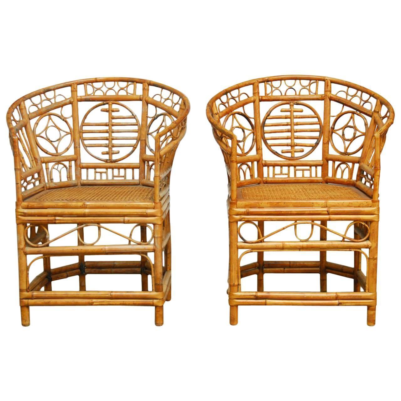 Brighton Pavilion Style Chinoiserie Chairs Pair Chairish