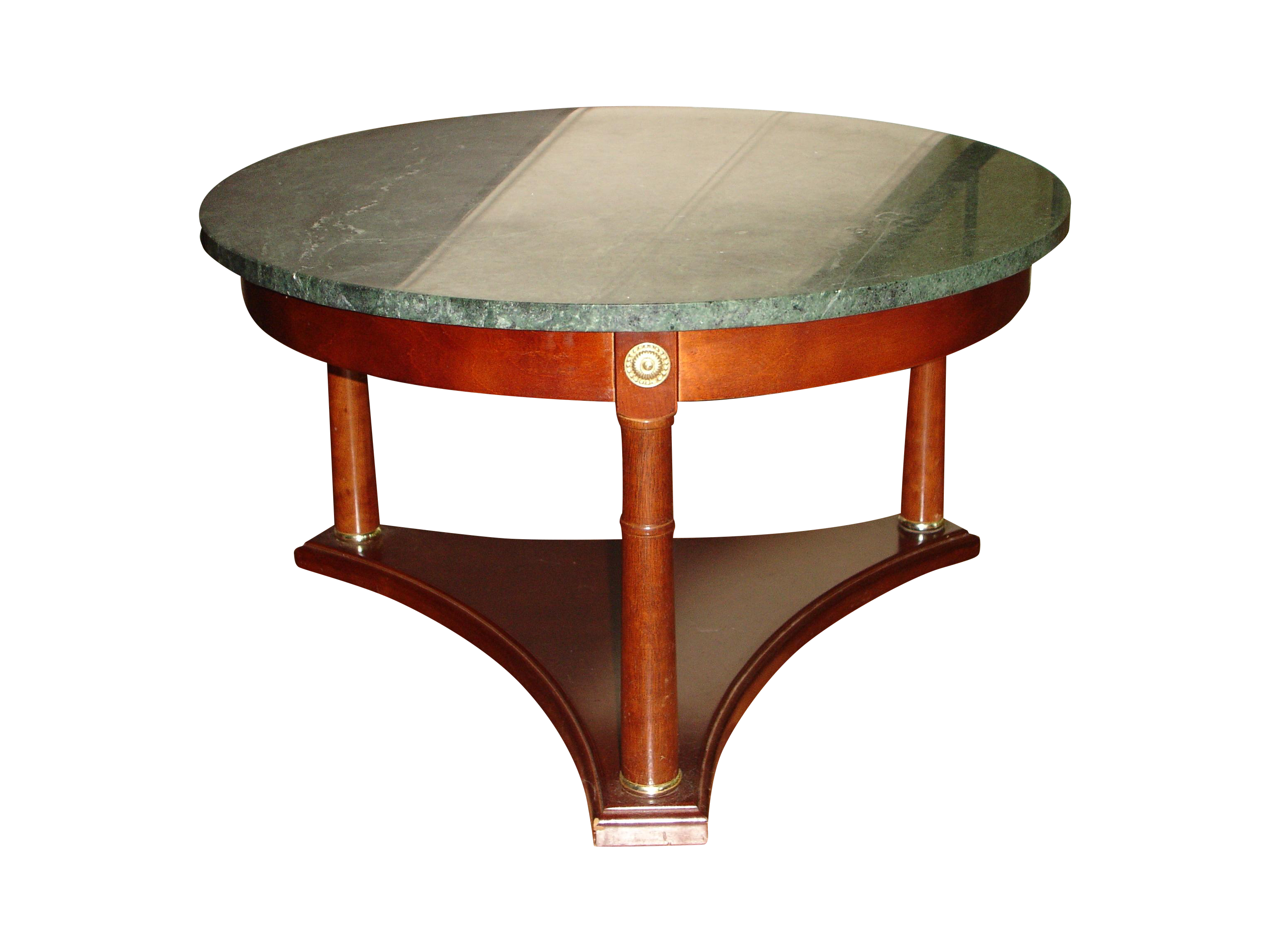 Vintage Green Marble Top & Mahogany Coffee Table