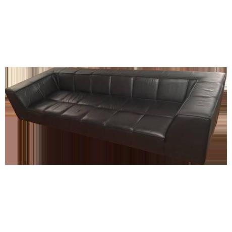 boconcept black leather sofa chairish. Black Bedroom Furniture Sets. Home Design Ideas
