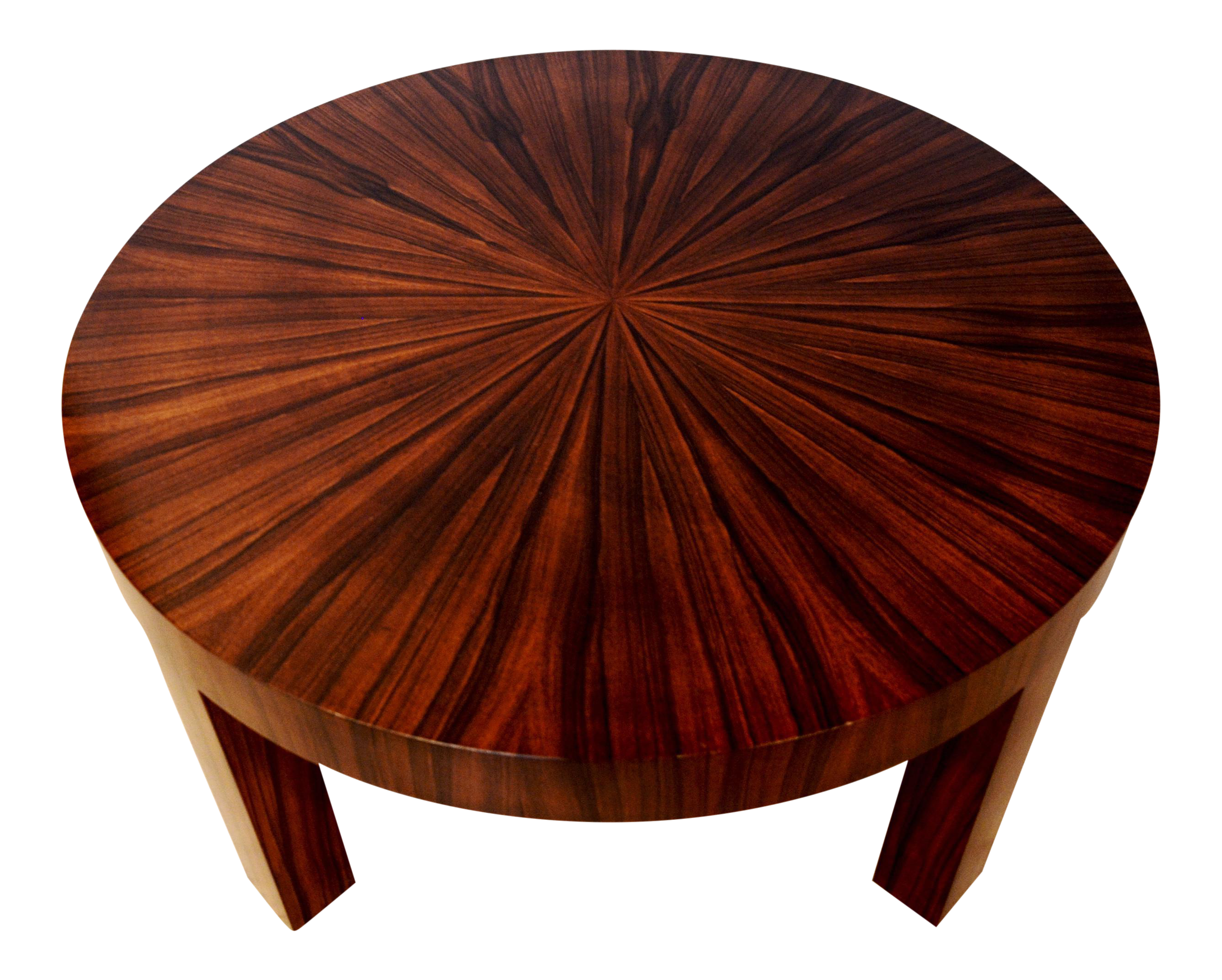 Art Deco Jean Michel Frank Style Circular Wood Coffee Table