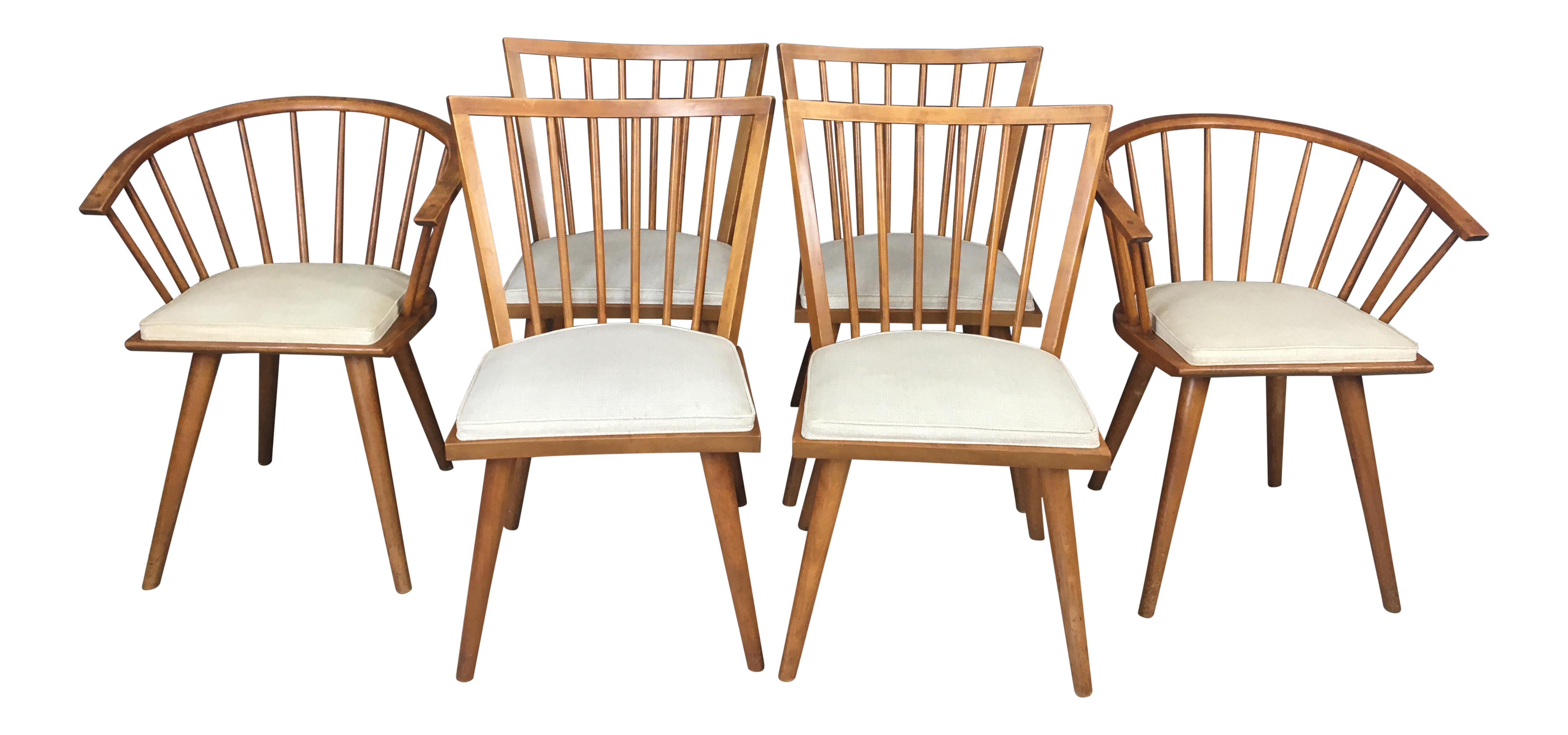 Leslie Diamond for Conant Ball Maple Dining Chairs Set of 6