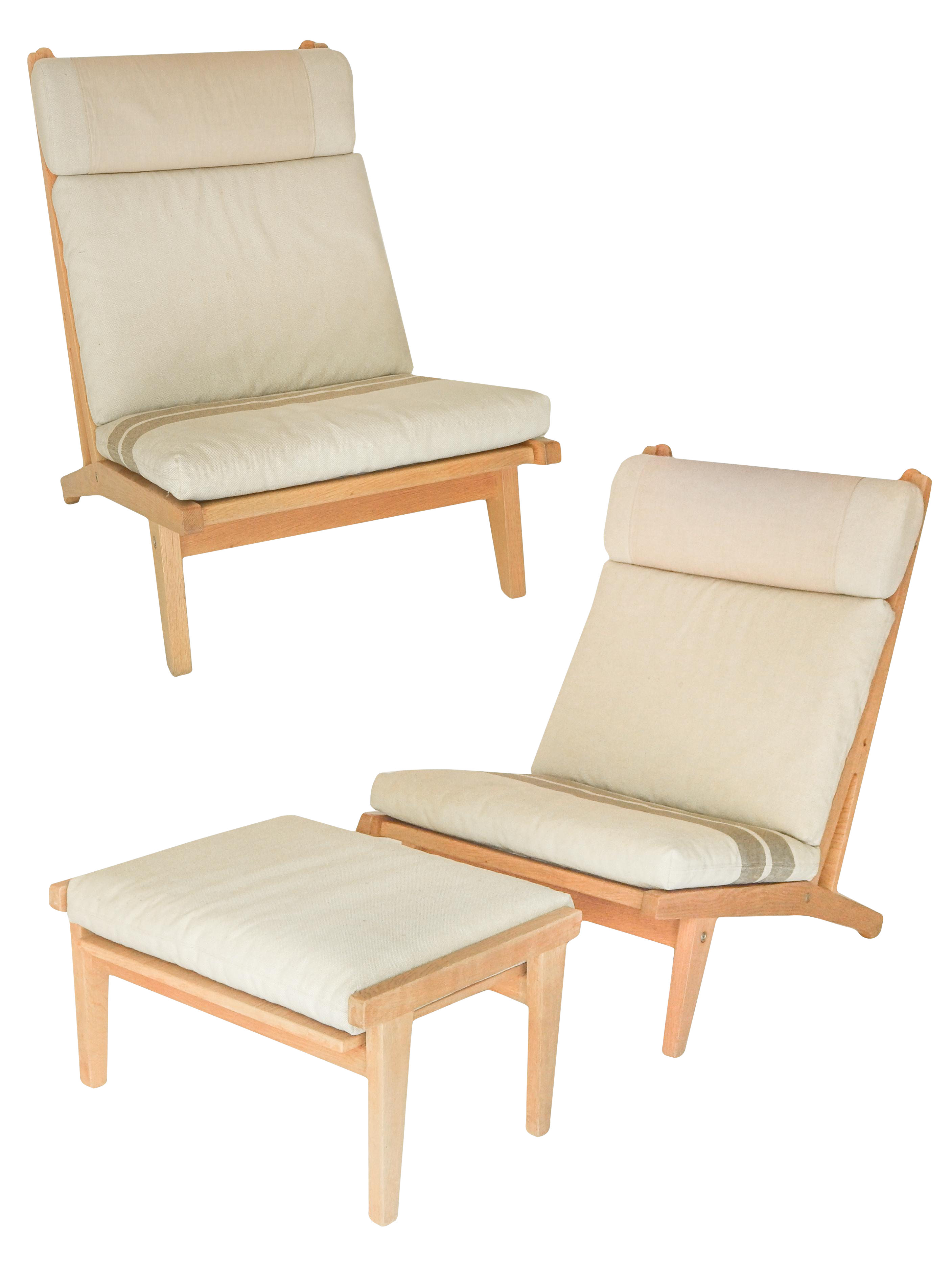 Incredible Pair of Blonde Hans Wegner Chairs