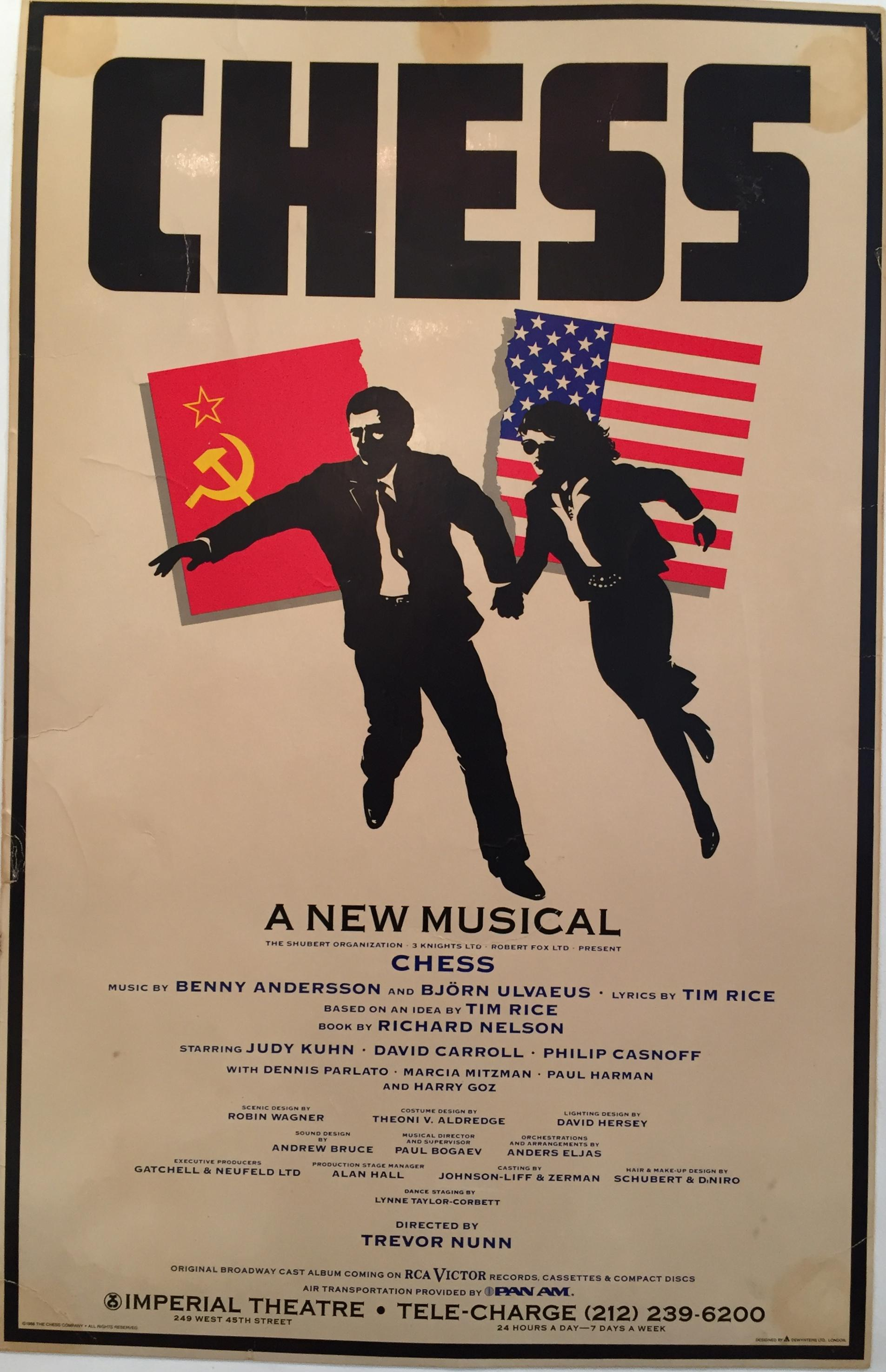 Original 1988 Chess Broadway Musical Poster Chairish