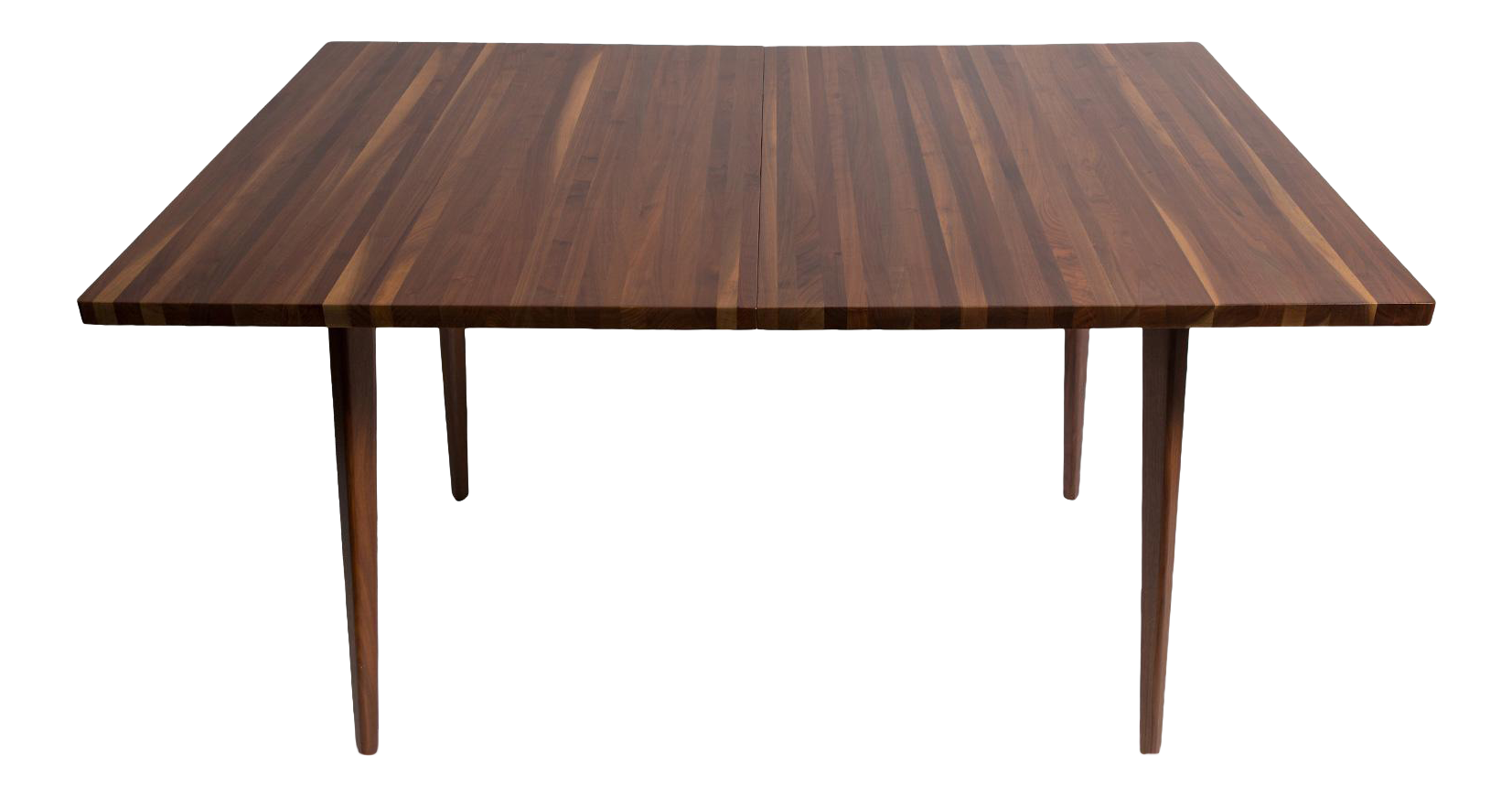 fine vintage mel smilow strip walnut dining table with 2 leaves u0026 6 chairs decaso
