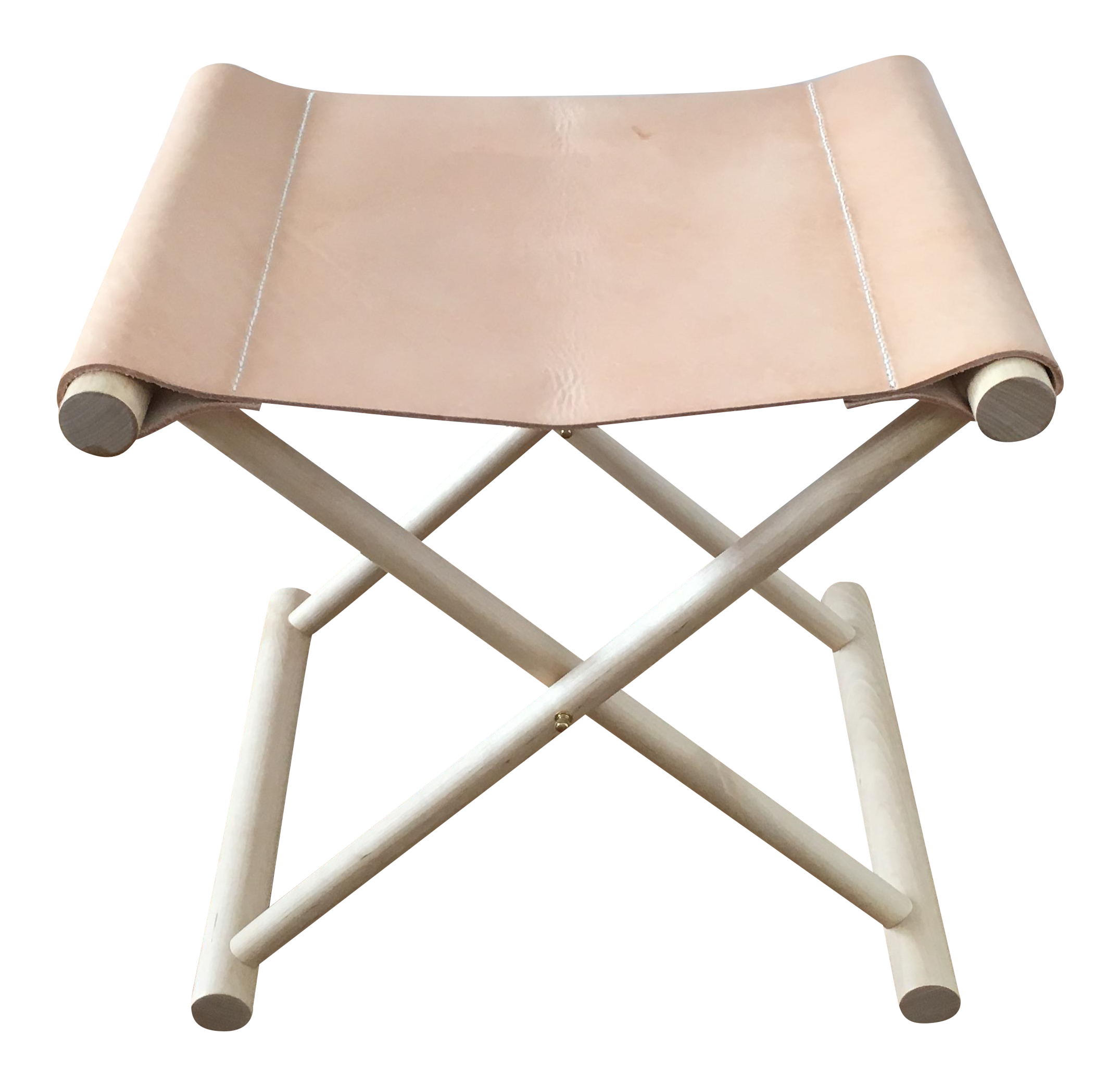 sc 1 st  Chairish & Directoru0027s Leather Folding Stool | Chairish islam-shia.org