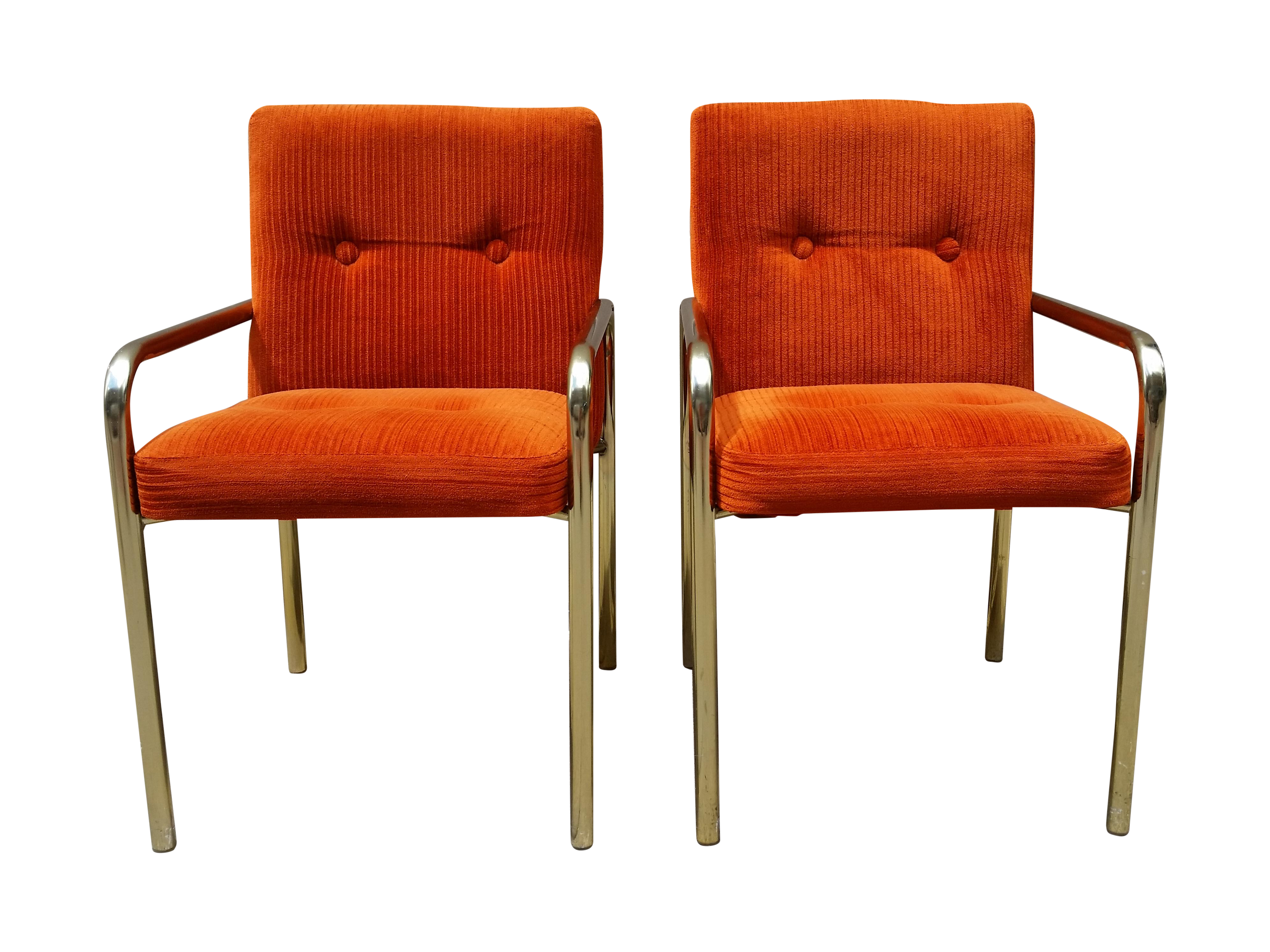 Vintage  Used Orange Office Chairs Chairish - Office furniture lincoln ne