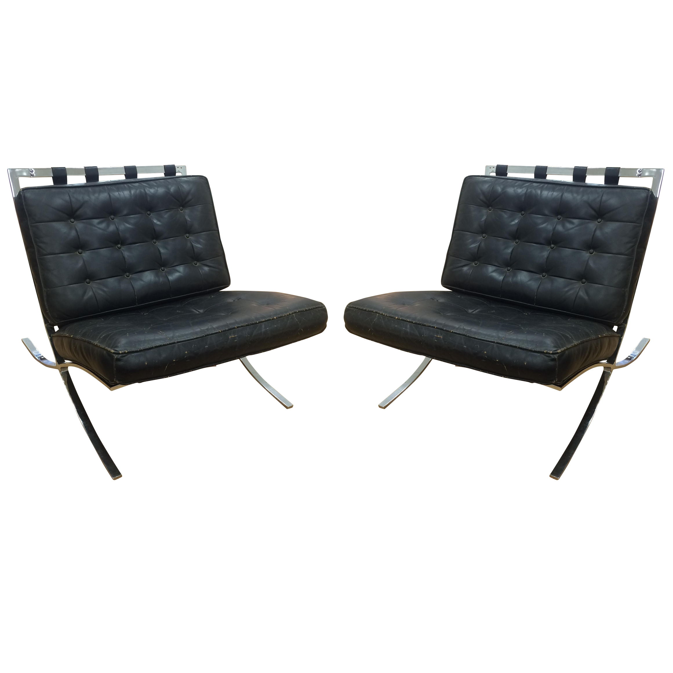 Used Knoll Furniture Favorites | Chairish - C. 1960 Screw Frame Barcelona Chairs - a Pair