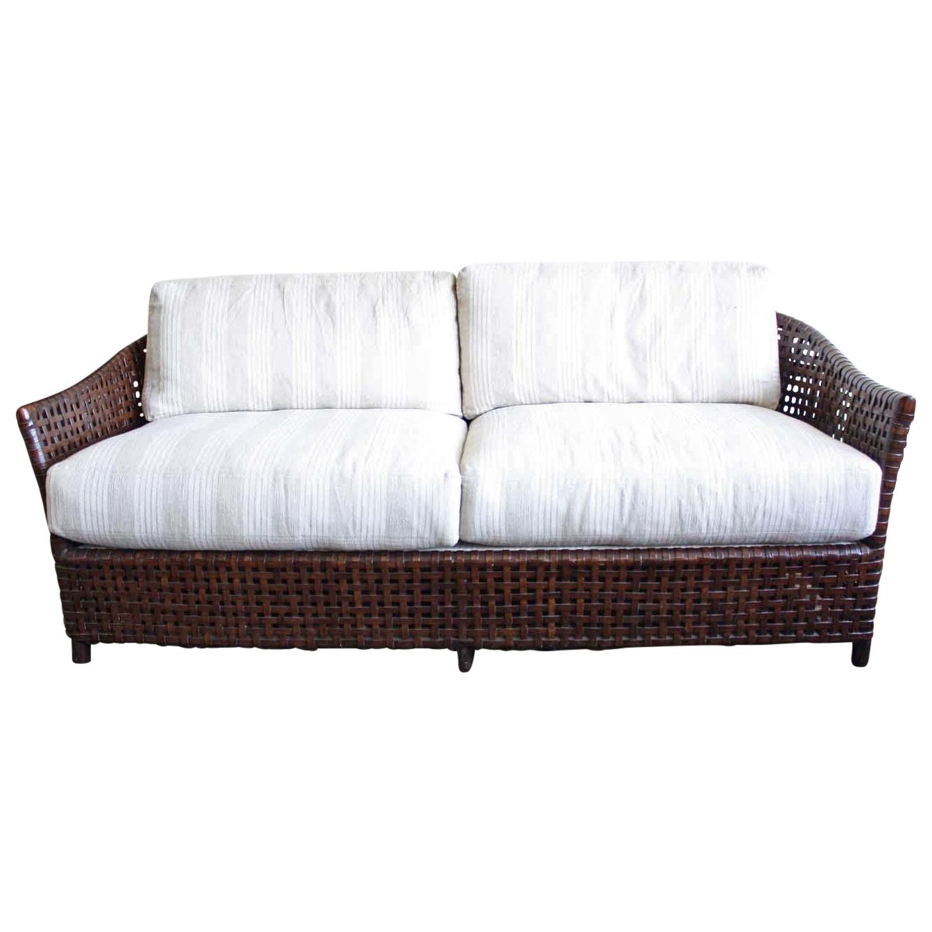 Mcguire Antalya Sofa Dark Tobacco Baker Fabric Chairish