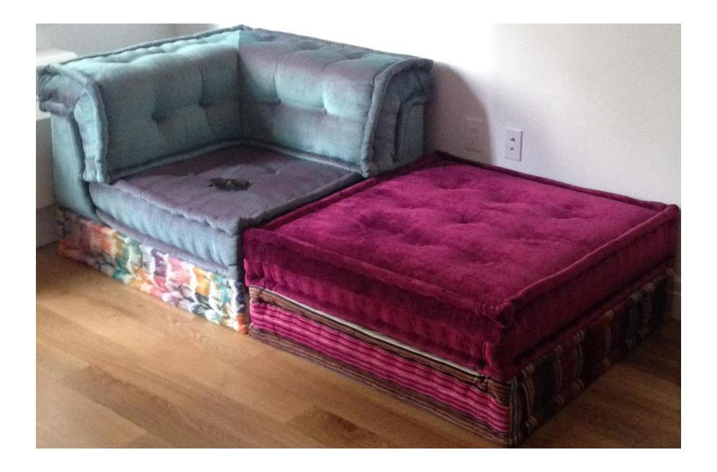 Roche bobois mah jong missoni sofa chairish for Armoire roche bobois