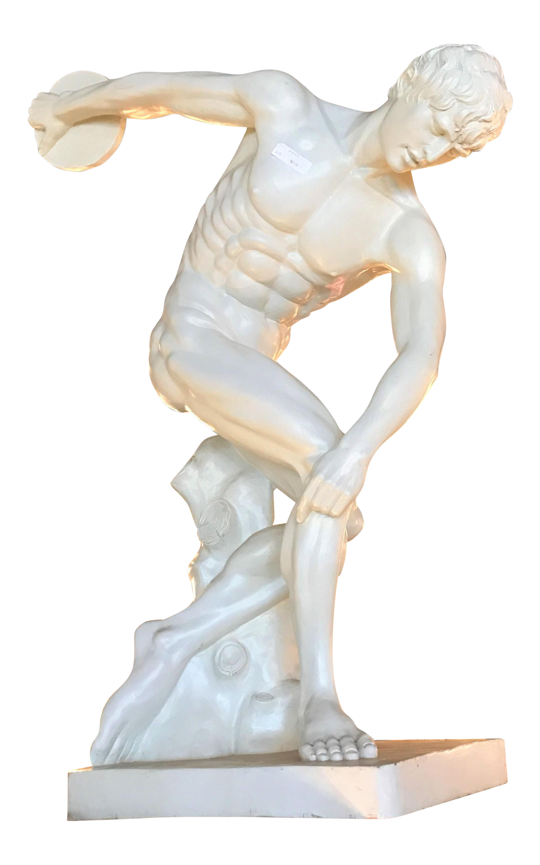 Neoclassical Style Fiberglass Life Sized Discus Thrower Sculpture Chairish
